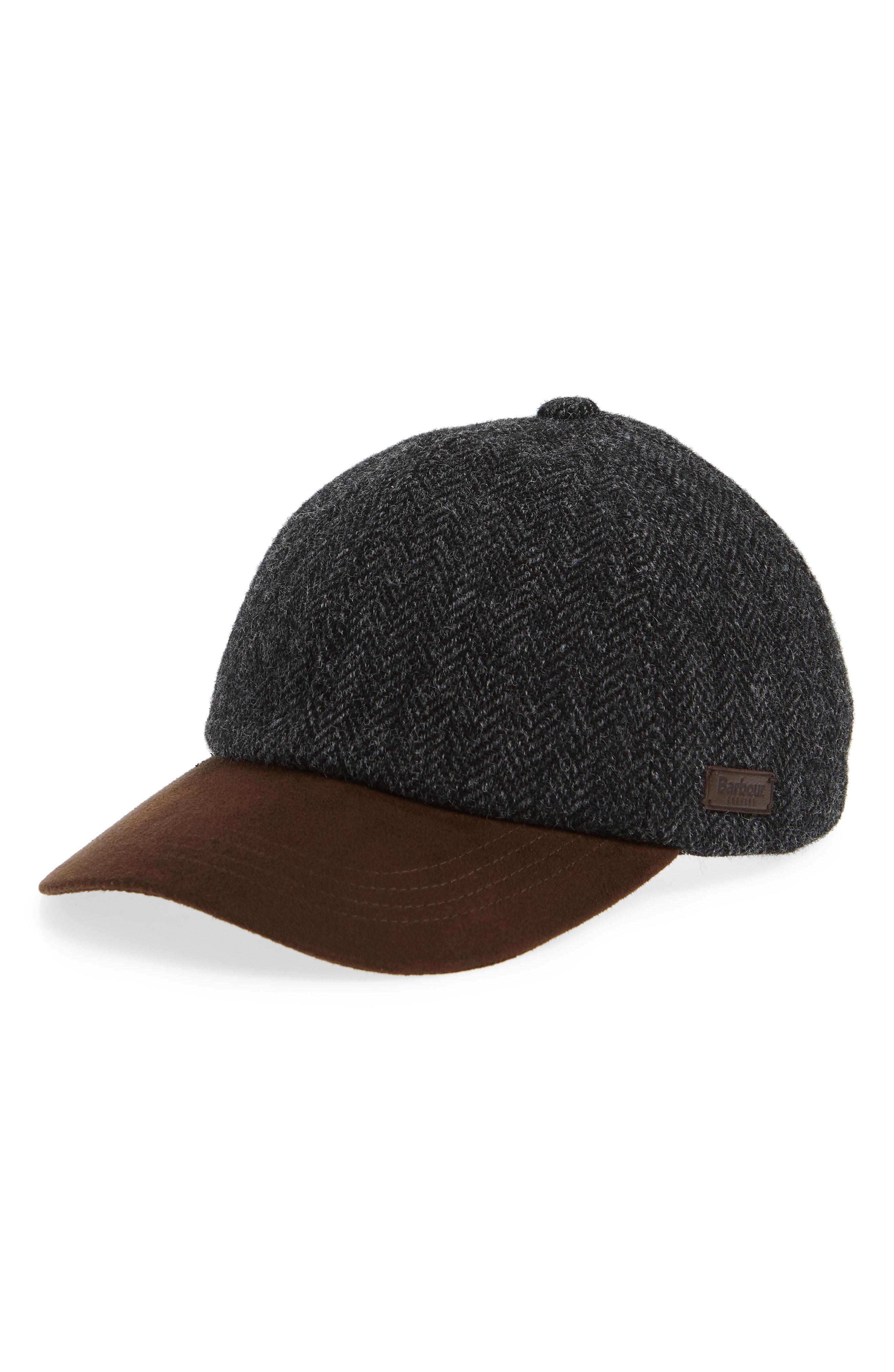 Lyst - Barbour Dotterel Wool   Moleskin Cap - in Black for Men 7155e4cd45ef