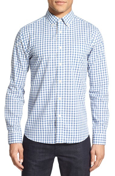 Slate And Stone Clothing : Slate stone check sport shirt in blue for men lyst
