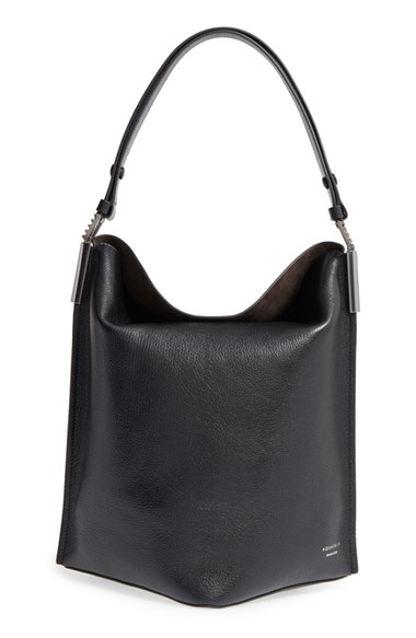 Aquatalia Leather Bucket Bag In Black Lyst