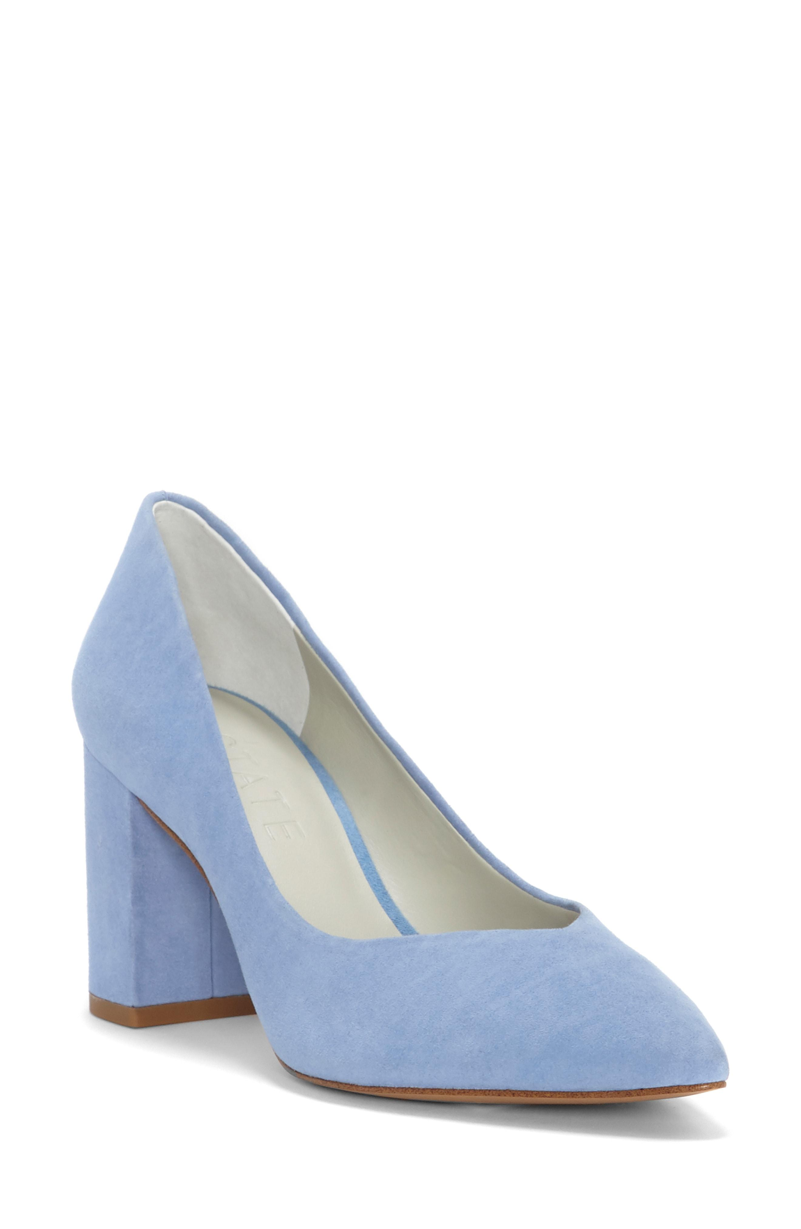 1fde280a549e8 Lyst - 1.STATE Saffy Block Heel Pump in Blue