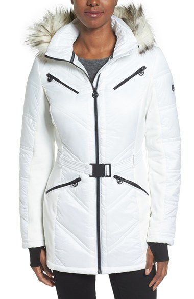 Michael Kors Mixed Media Jacket
