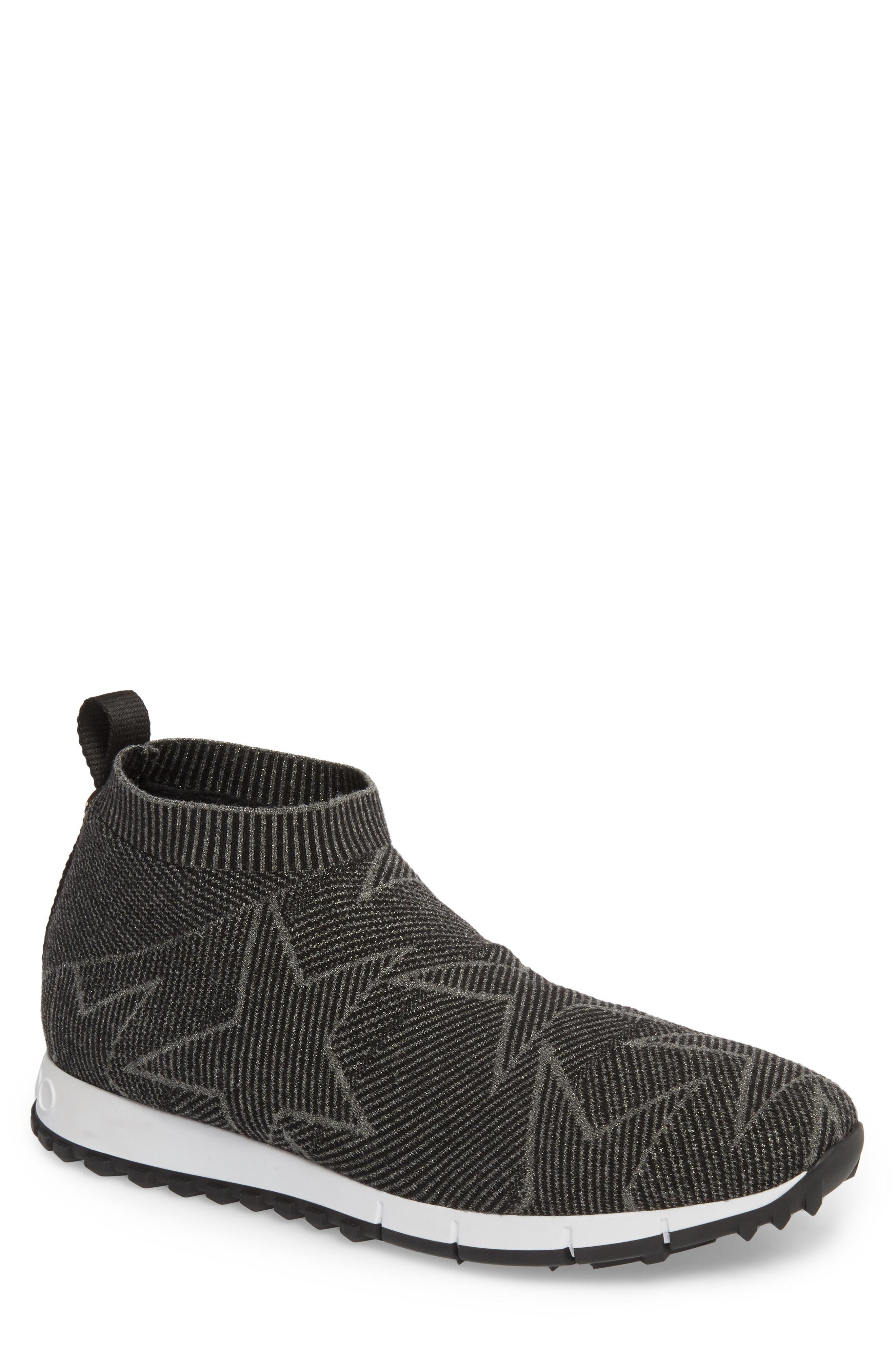 d2179cd252b Jimmy Choo - Brown Norway Mid Knit Sock Sneaker for Men - Lyst