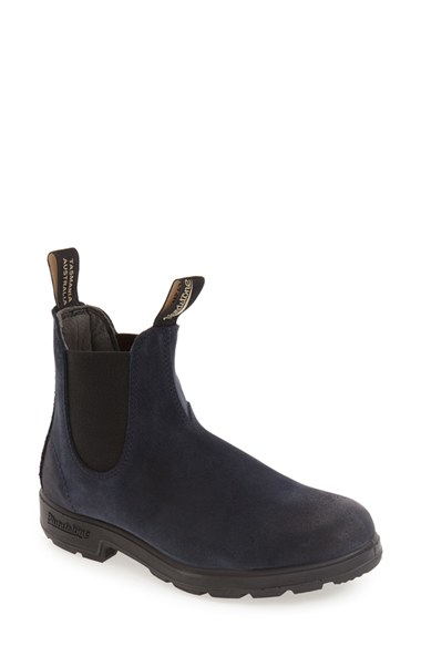 blundstone original suede series chelsea boot in blue
