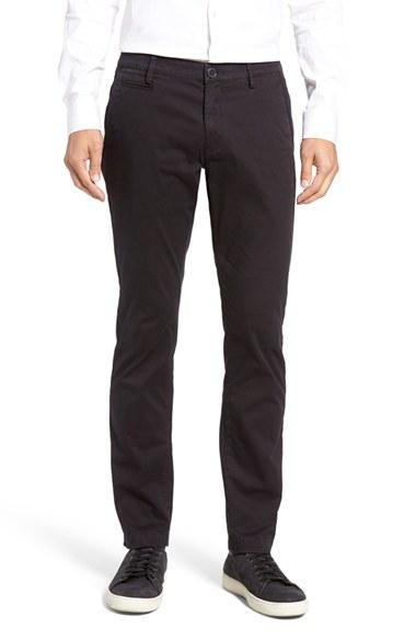 Slate And Stone Clothing : Slate stone enzyme washed chinos in black for men lyst