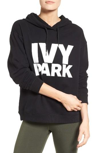 ivy park peached logo hoodie in black lyst. Black Bedroom Furniture Sets. Home Design Ideas