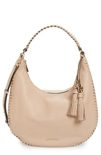 Michael Michael Kors Large Lauryn Leather Hobo In Natural
