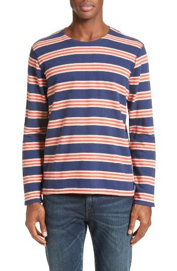 Levi 39 s levi 39 s made crafted tm stripe t shirt in red for for Levis made and crafted shirt