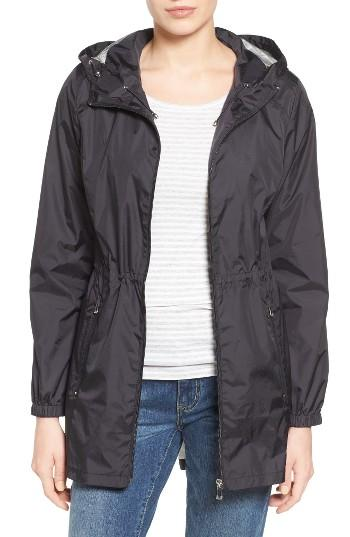 Calvin Klein Packable Rain Jacket Black In Black Lyst