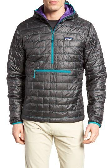 Patagonia Nano Puff Bivy Water Resistant Jacket In Black