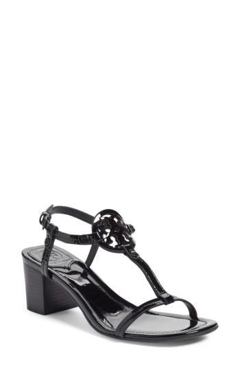 216fa0b7f6b811 Lyst - Tory Burch Miller Block Heel Sandal in Black
