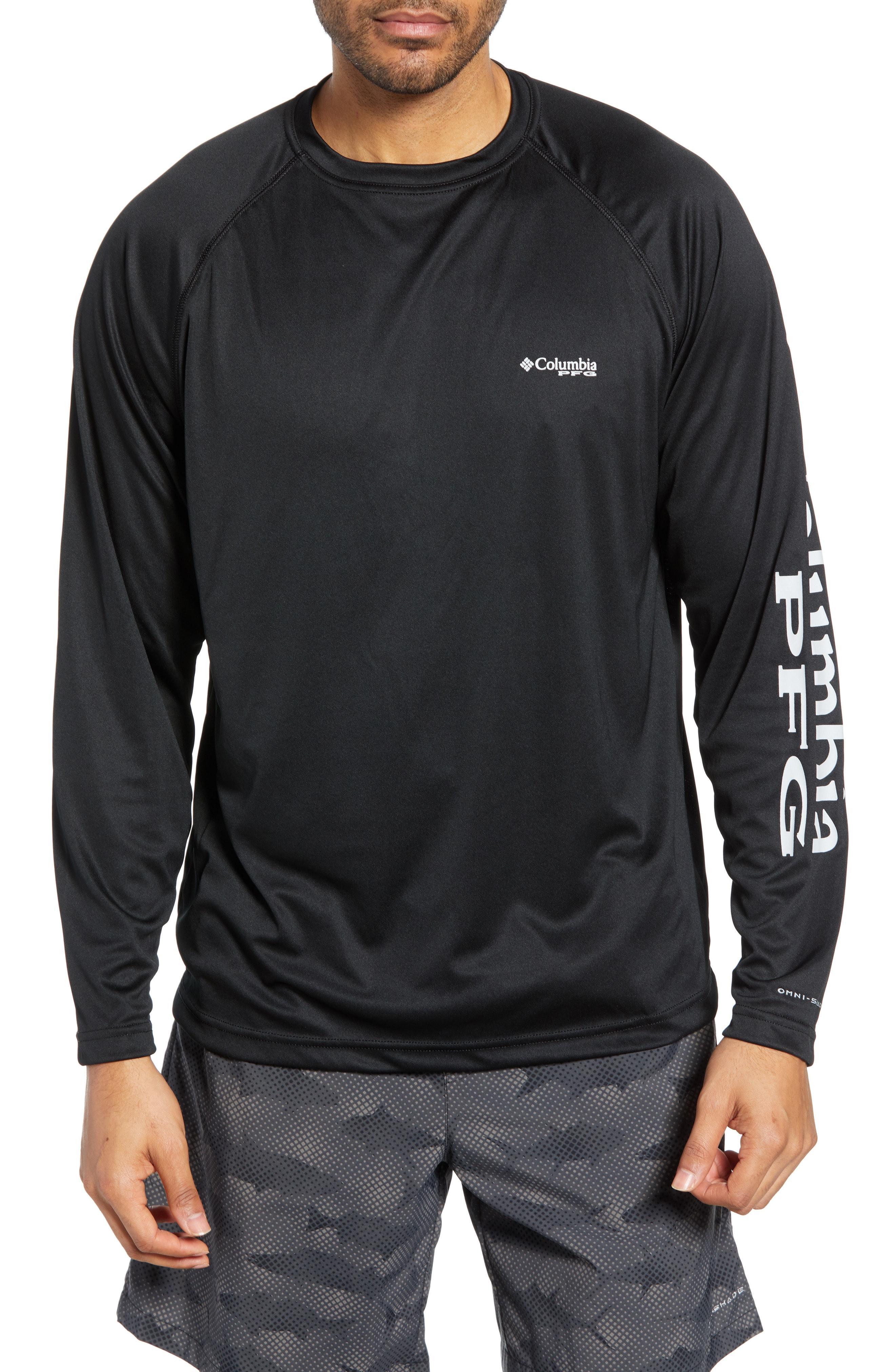 7c5afe38aa4 Columbia - Gray Pfg Terminal Tackle Performance Long Sleeve T-shirt for Men  - Lyst. View fullscreen