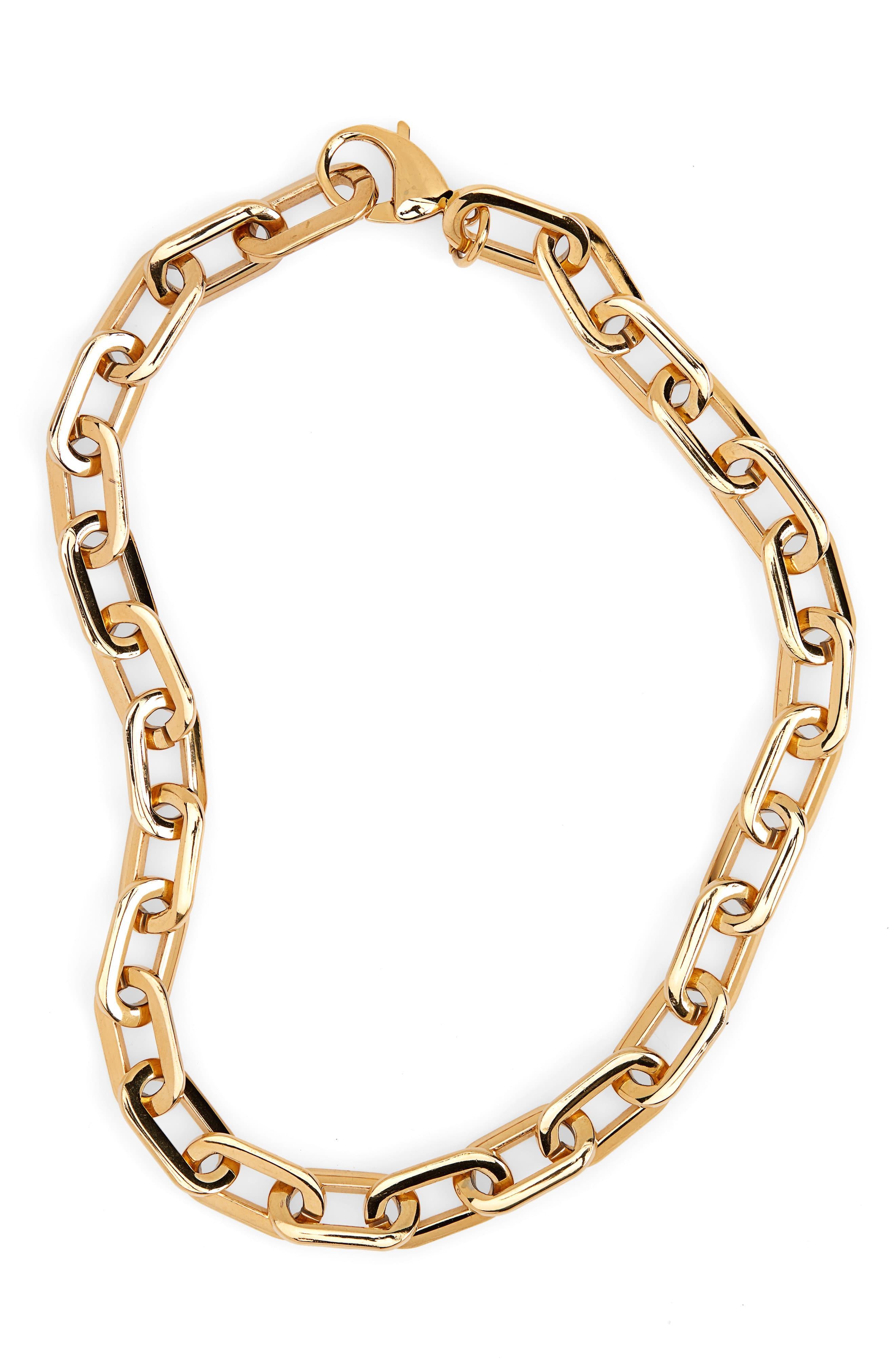 1b0dafd926955f Ellie Vail Gage Oversize Link Necklace in Metallic - Lyst