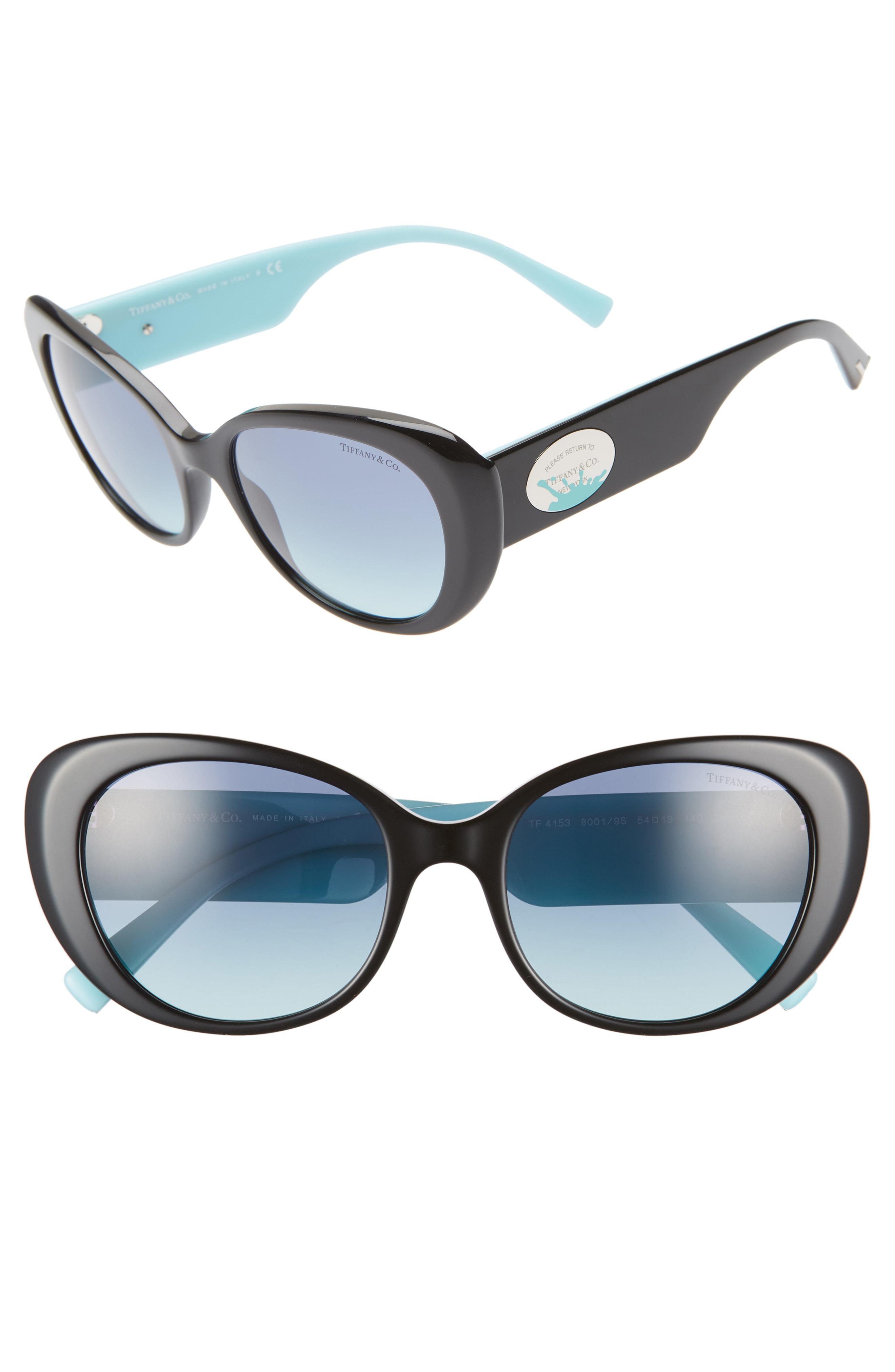 b0e1b90f0a5 Lyst - Tiffany   Co Return To Tiffany 54mm Oval Sunglasses in Blue