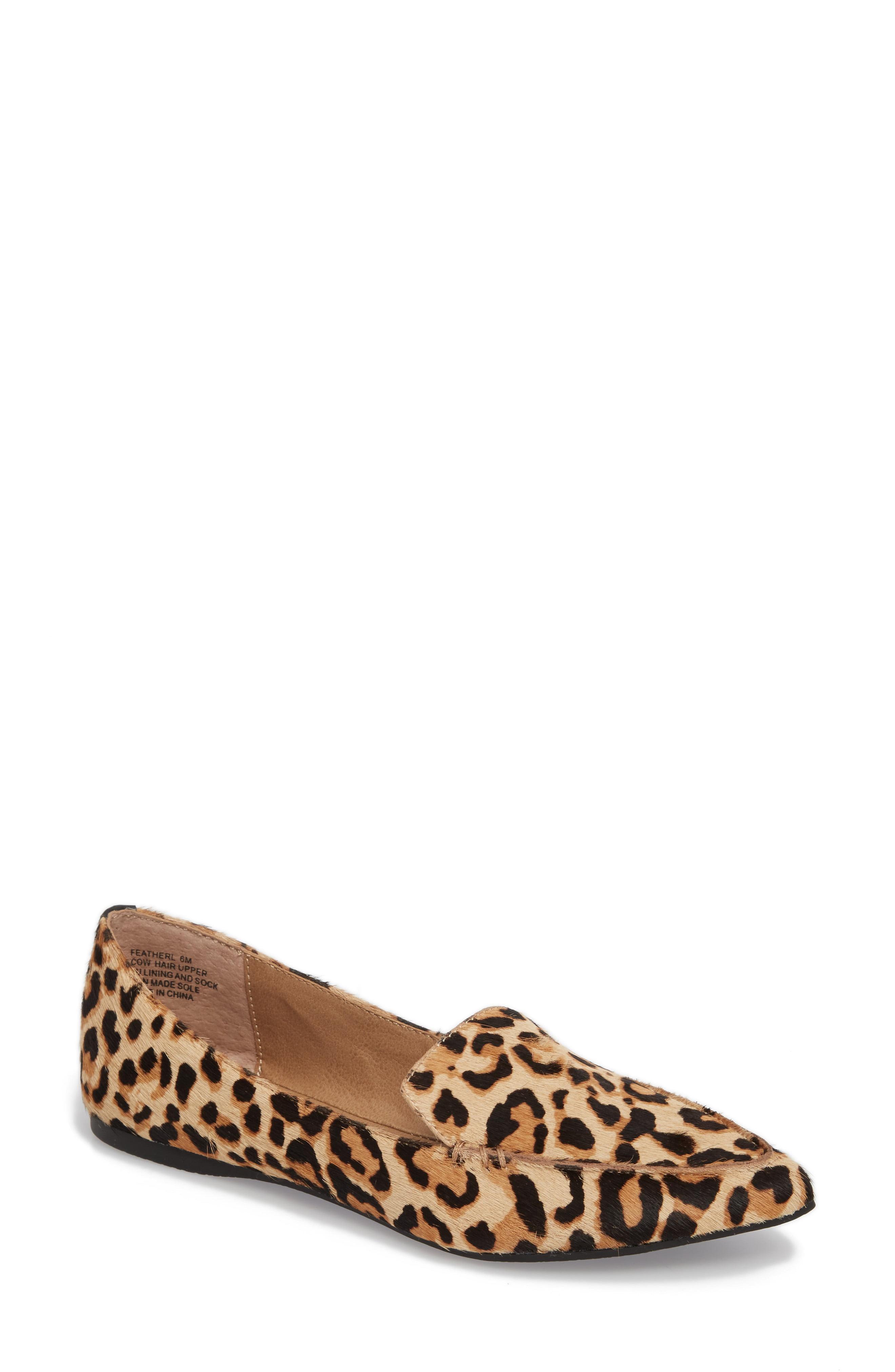 3e4080faf9a Lyst - Steve Madden Feather-l Genuine Calf Hair Loafer Flat