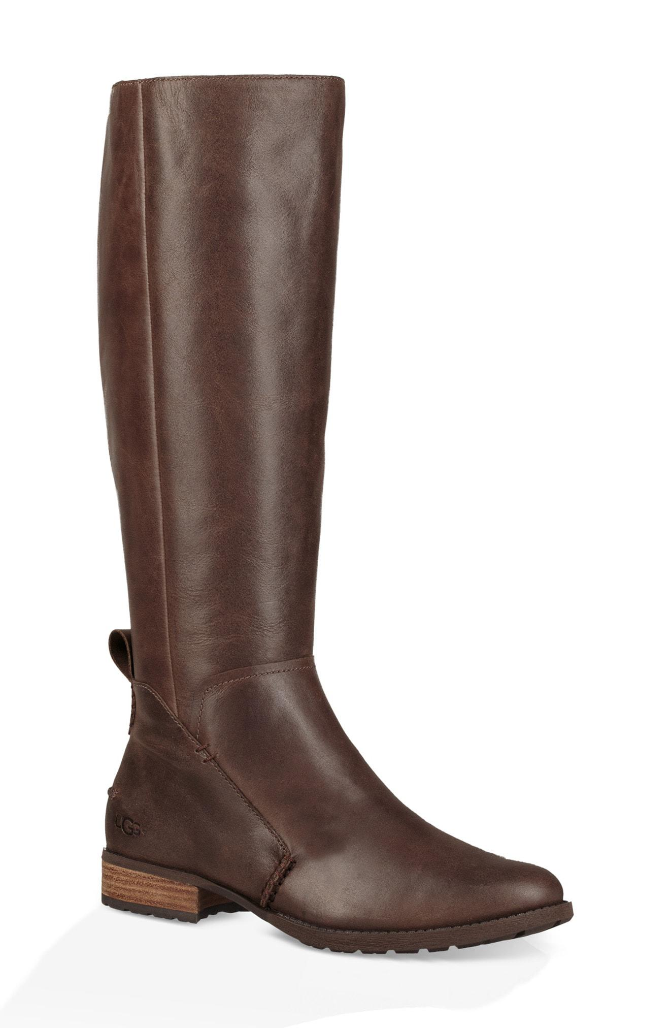 c9f9da7745a Lyst - UGG Ugg Leigh Knee High Riding Boot in Brown