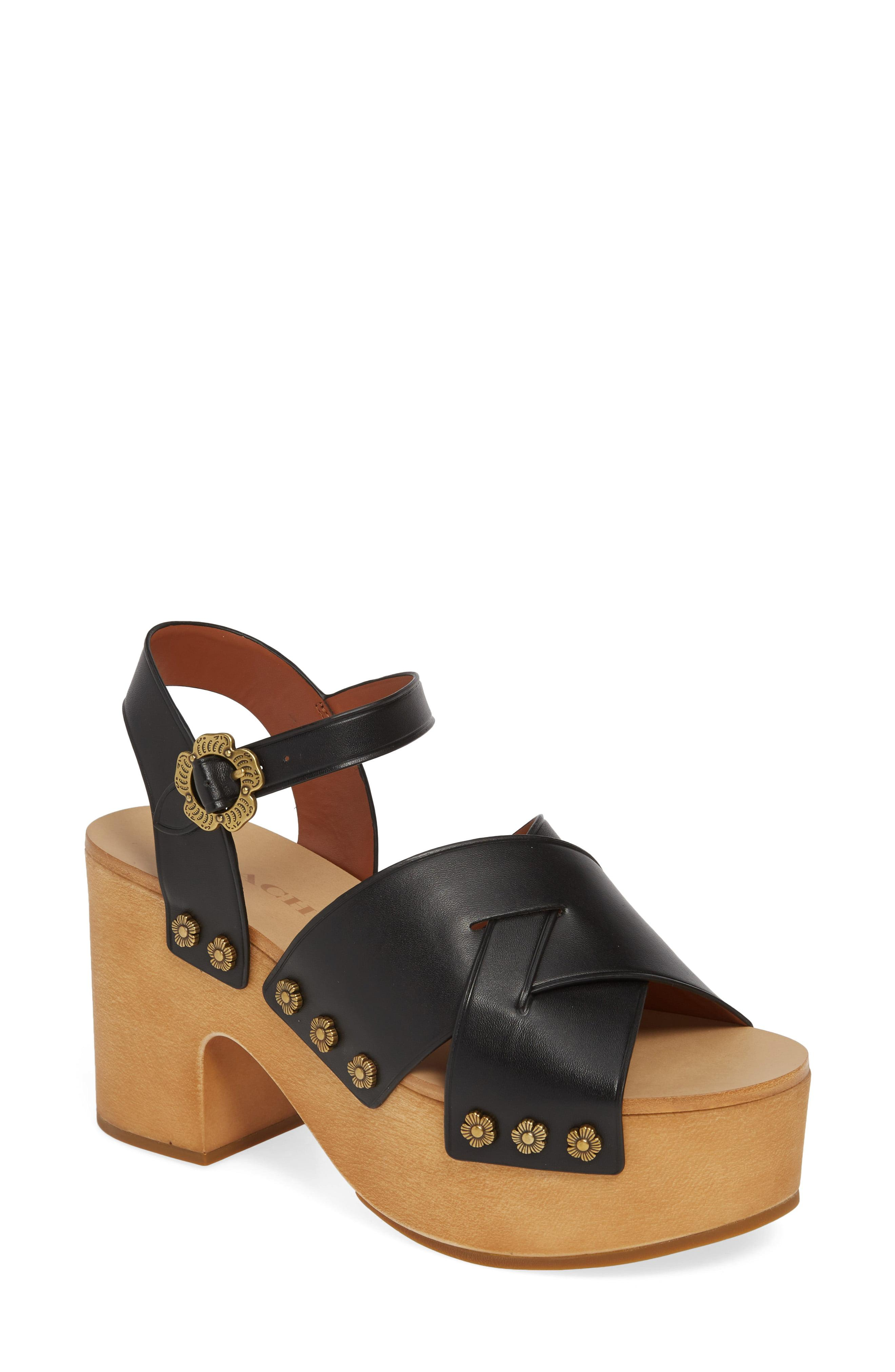 f2ee8a4da Lyst - COACH Nessa Clog Platform Sandal in Black
