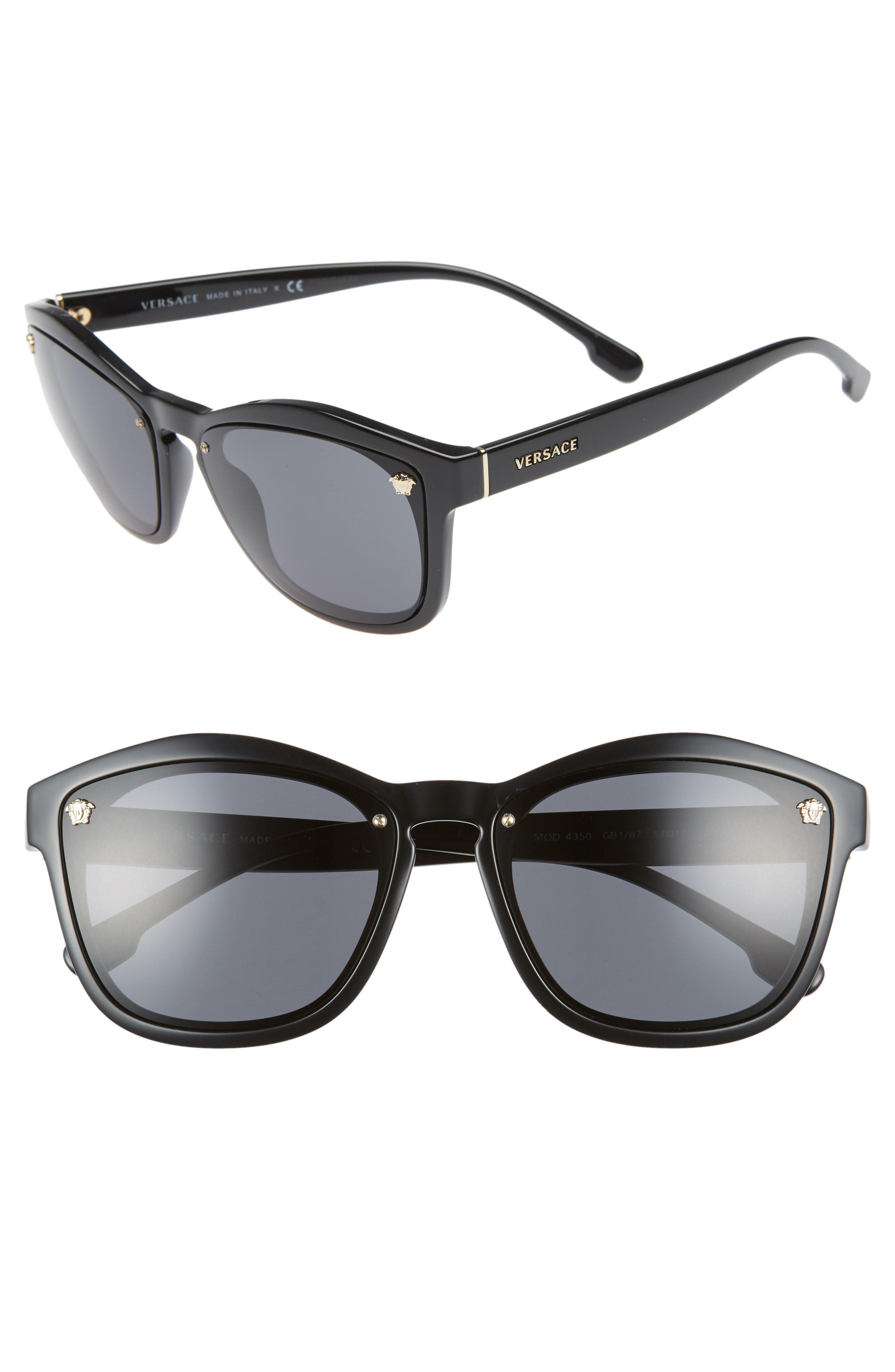 96b1dd49dba3 Versace - Black Medusa 57mm Square Sunglasses - Lyst. View fullscreen