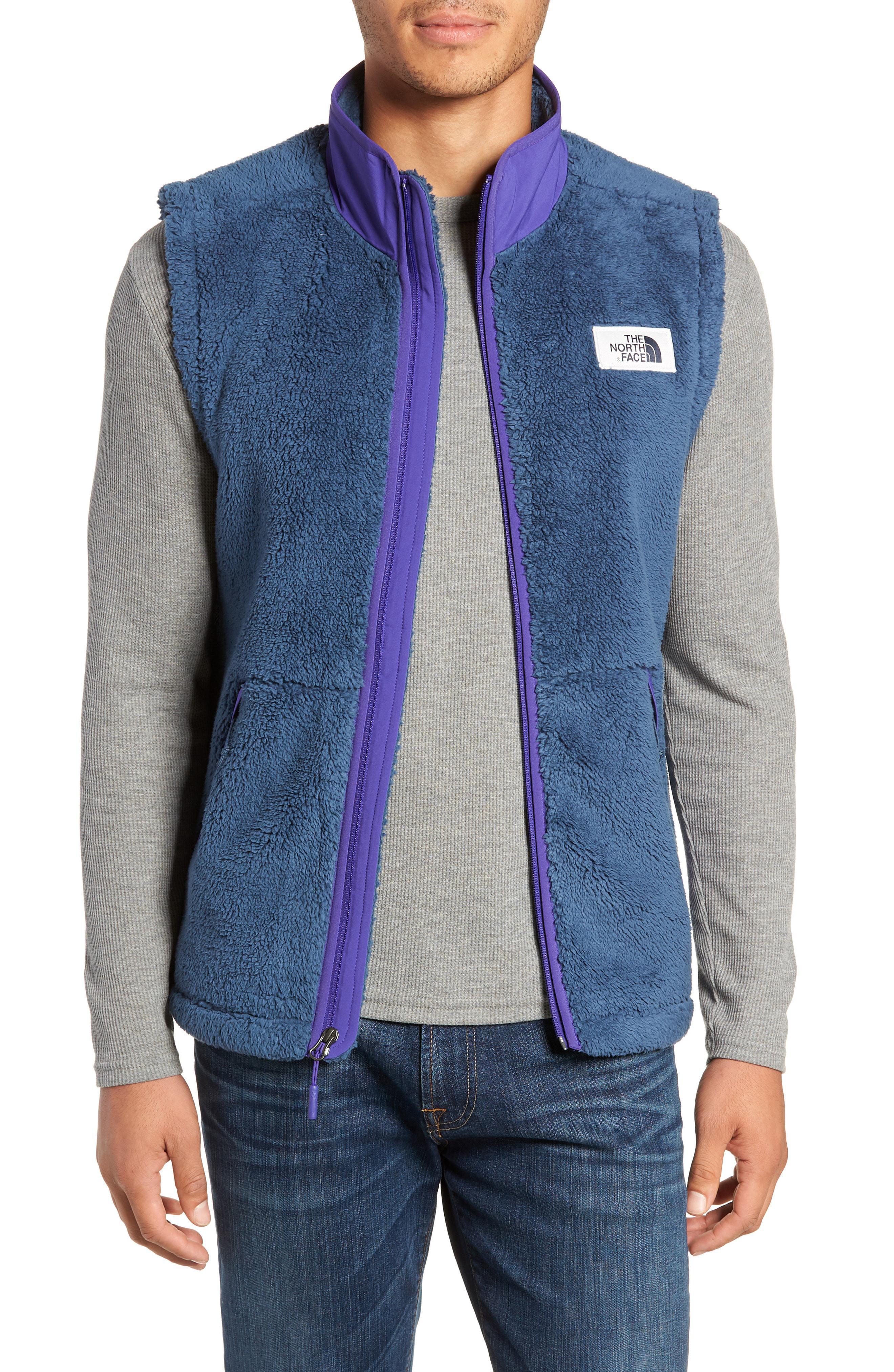 Lyst - The North Face Campshire Fleece Vest in Blue for Men - Save 40% fec5da22b