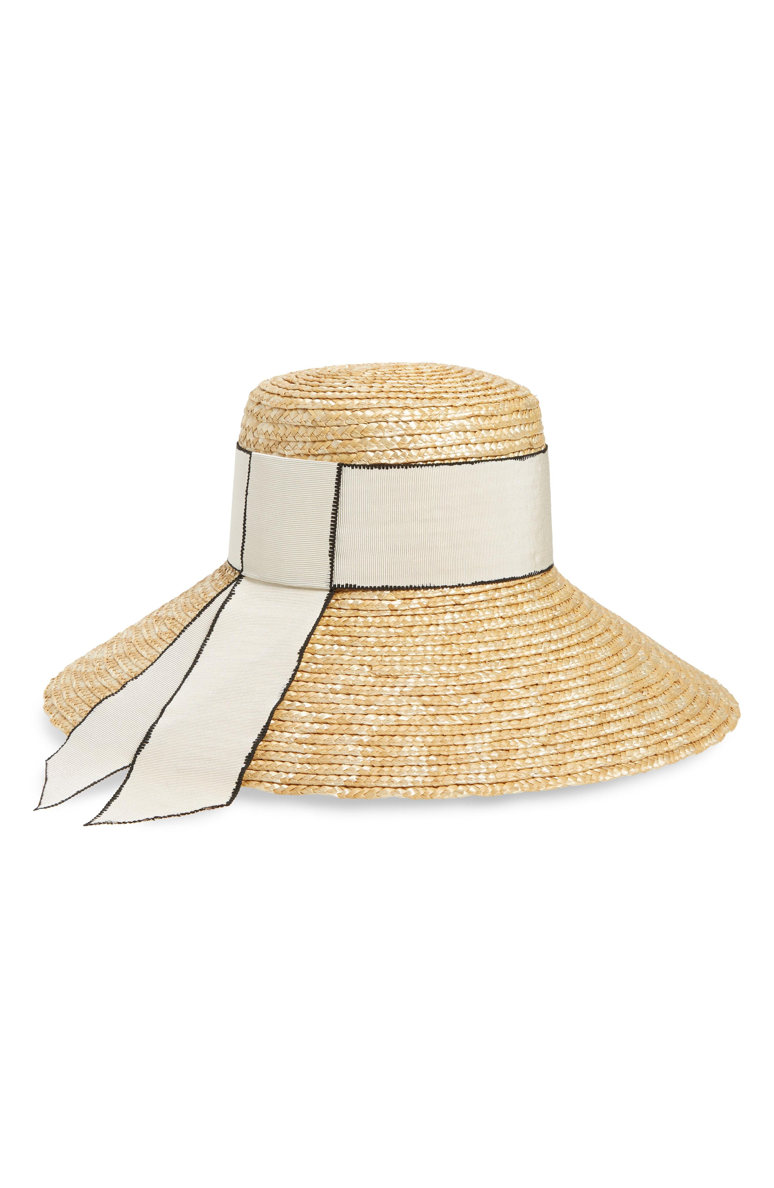 cdd49abf4071d Lyst - Eugenia Kim Annabelle Grosgrain-trimmed Straw Hat in Natural ...