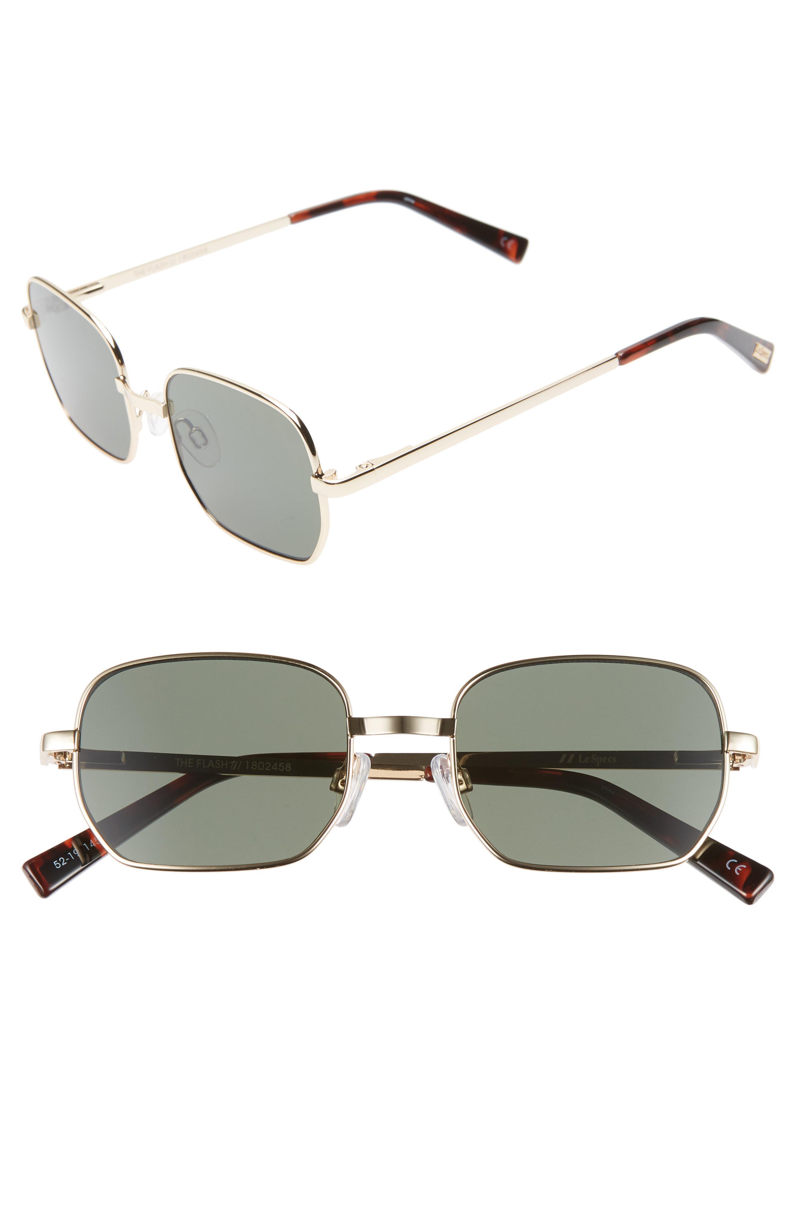 2661953f2f Lyst - Le Specs The Flash 52mm Round Sunglasses in Metallic