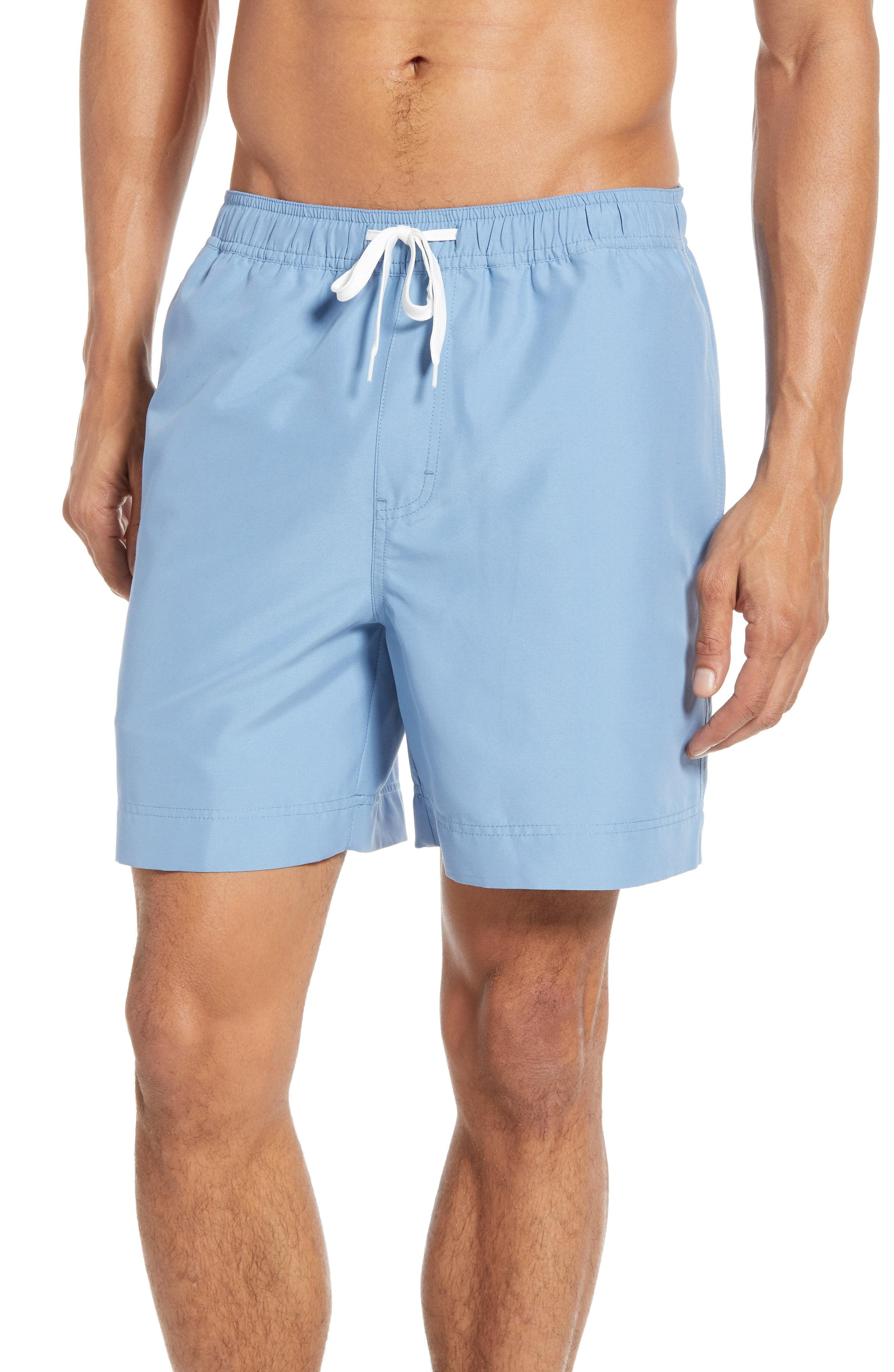 8498361fafe90 Lyst - Nordstrom 1901 Solid Volley Swim Trunks in Blue for Men