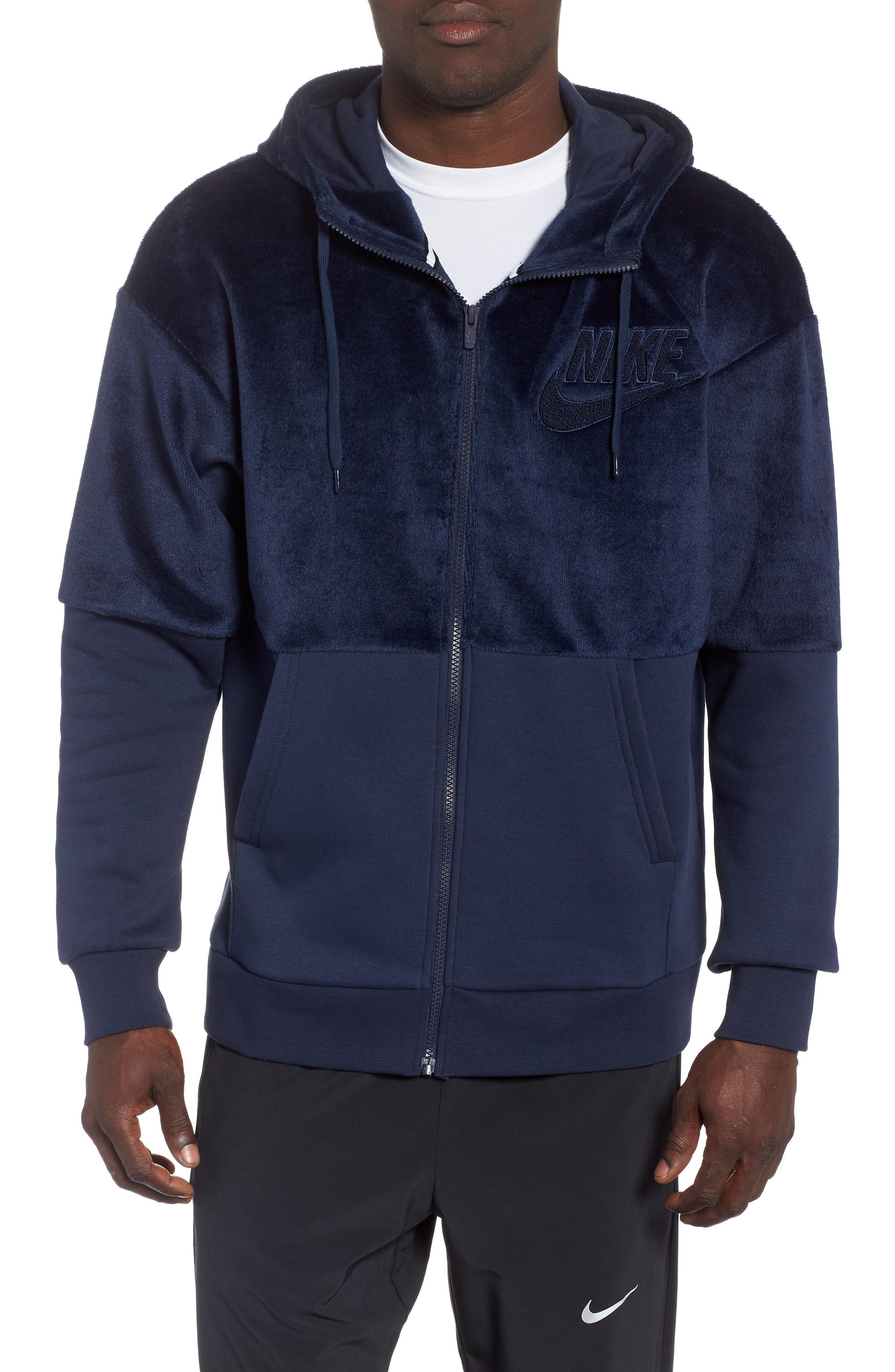 bb9de42cb4c7 Lyst - Nike Nsw Fleece Zip Hoodie in Blue for Men