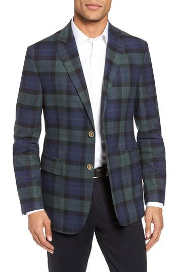 Vineyard Vines Classic Fit Blackwatch Plaid Sport Coat In