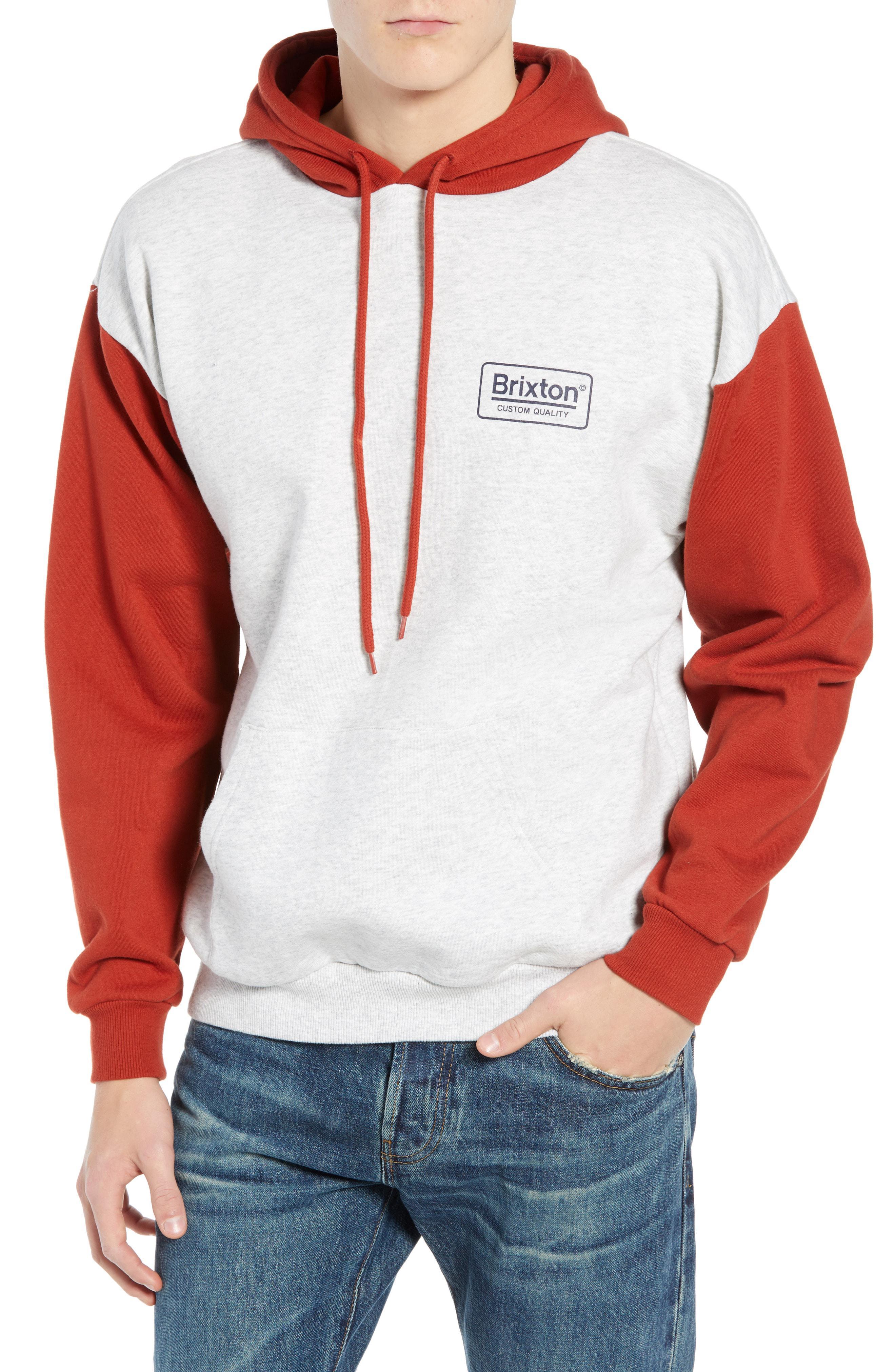 fc7b6b85 Lyst - Brixton Palmer Ii Color Block Hooded Sweatshirt for Men