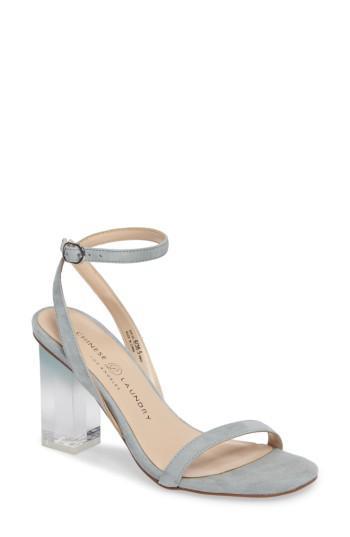 26e9266da9 Lyst - Chinese Laundry Shanie Clear Heel Sandal in Blue