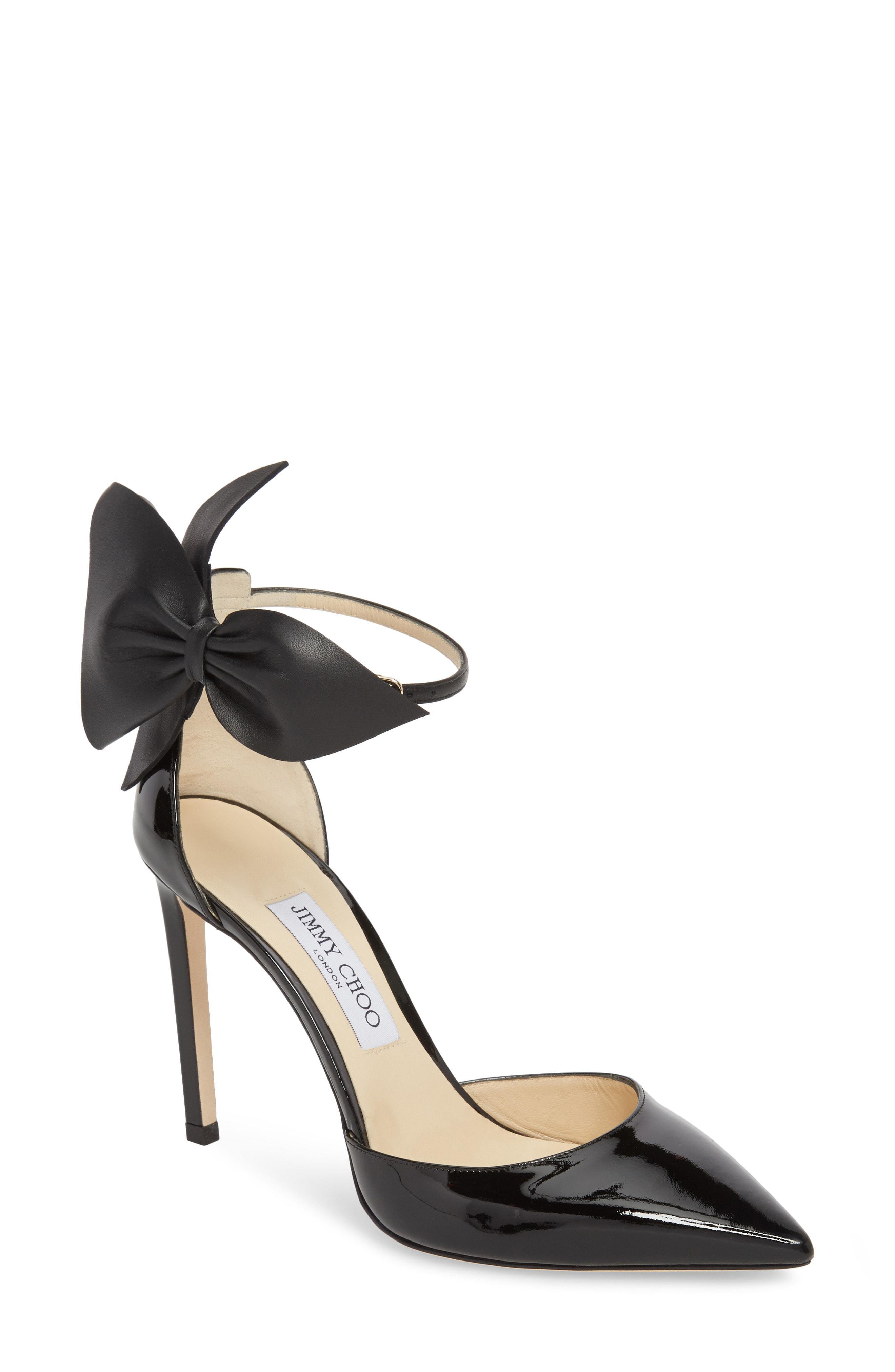 Pump Toe Pointy Bow Jimmy Black Kelley In Choo Lyst vqwZfUO