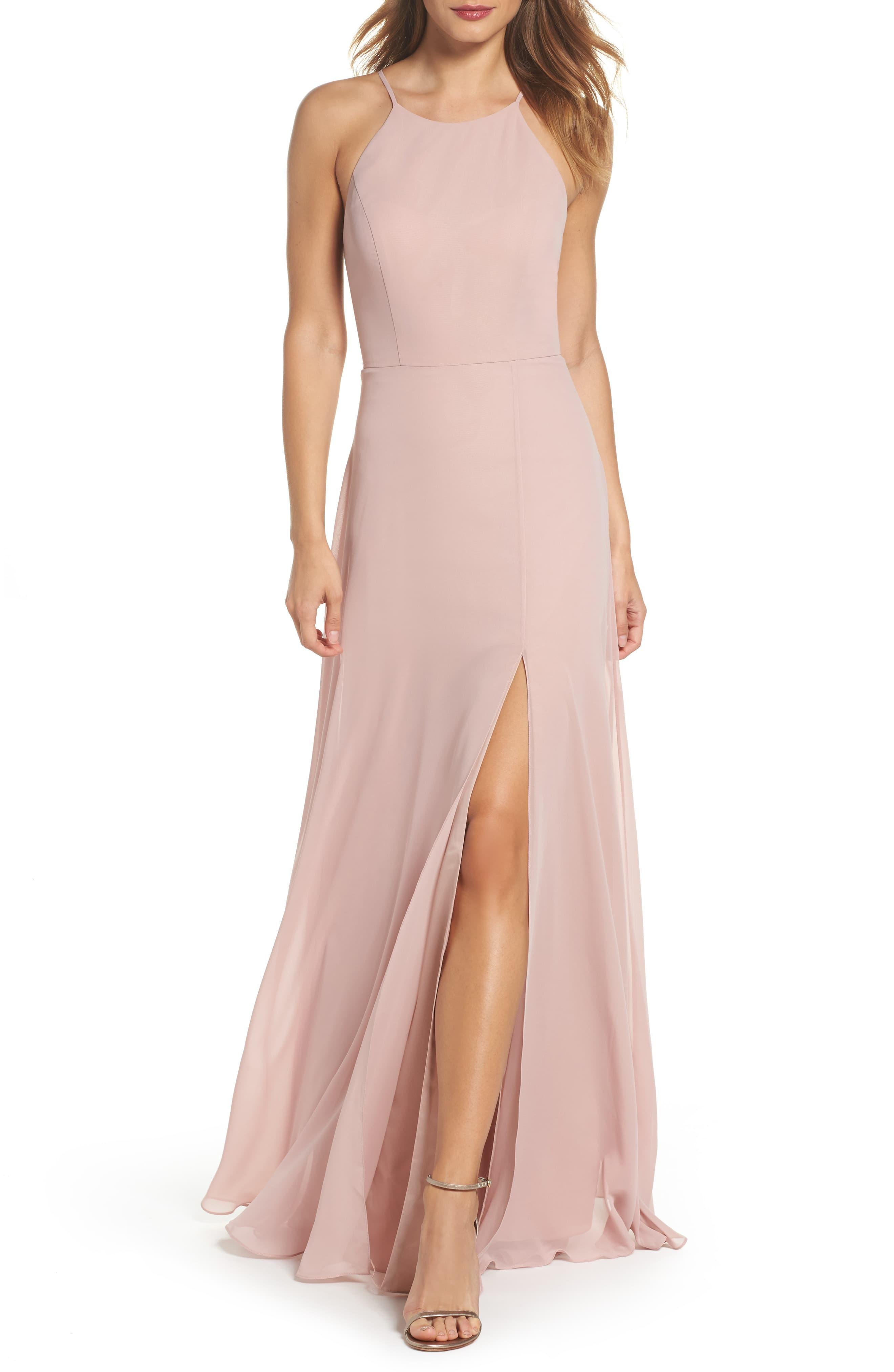 4f09f119b33 Jenny Yoo Kayla A-line Halter Gown in Pink - Save 40% - Lyst