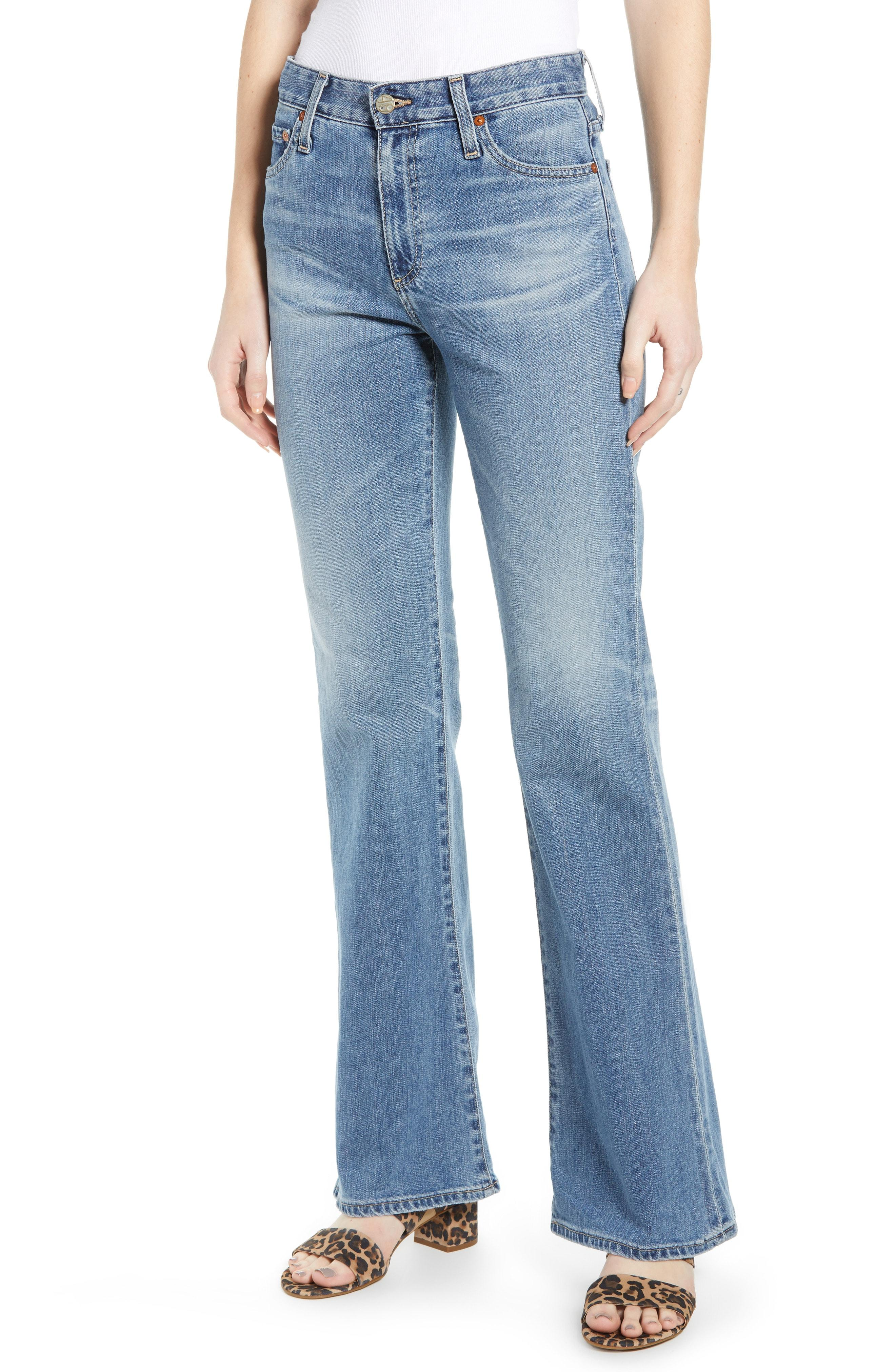 6152dbb96 Lyst - AG Jeans Quinne High Waist Flare Jeans in Blue