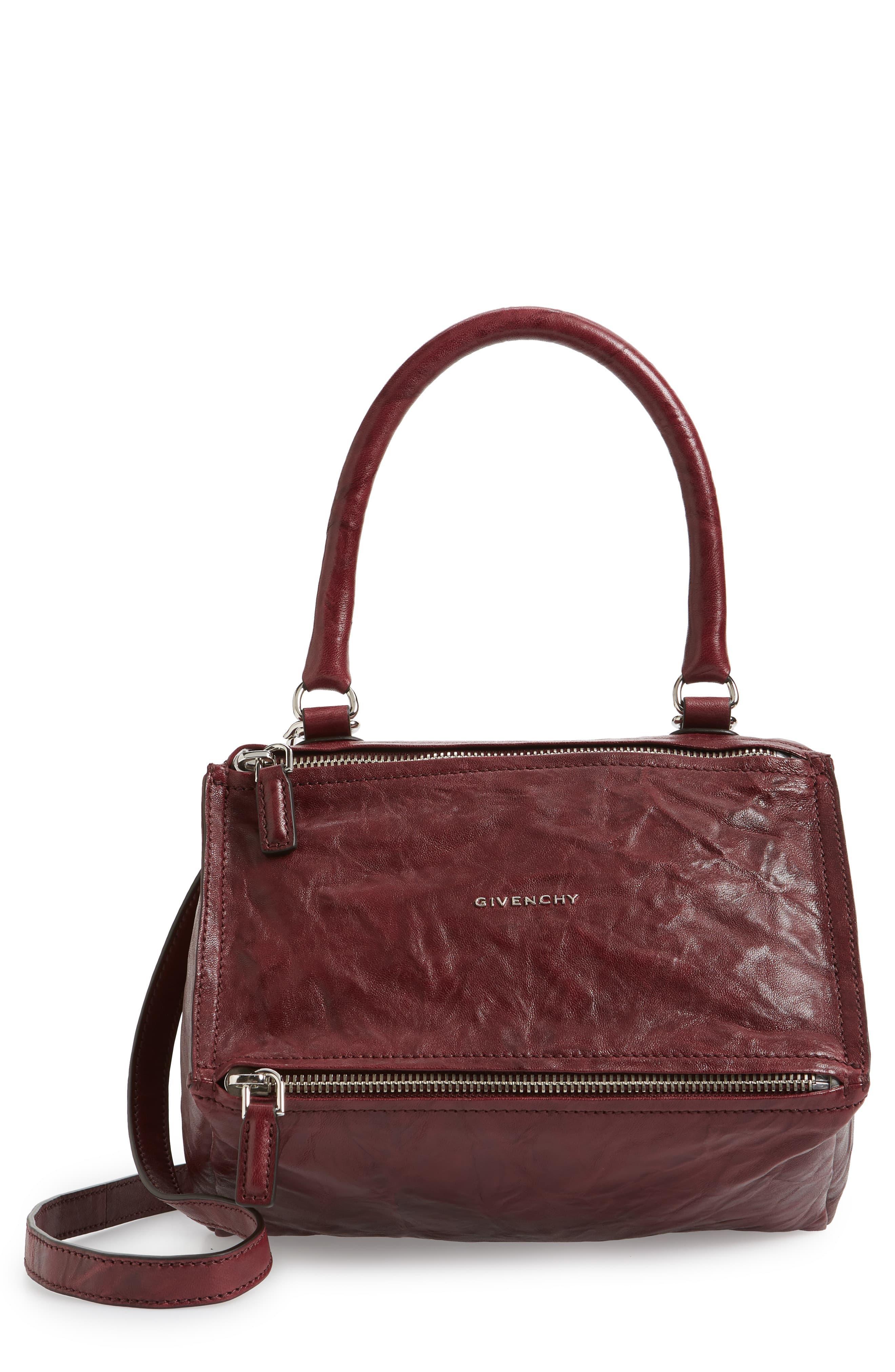 c32ce11f431 Givenchy - Brown 'small Pepe Pandora' Leather Crossbody Bag - Burgundy -  Lyst. View fullscreen