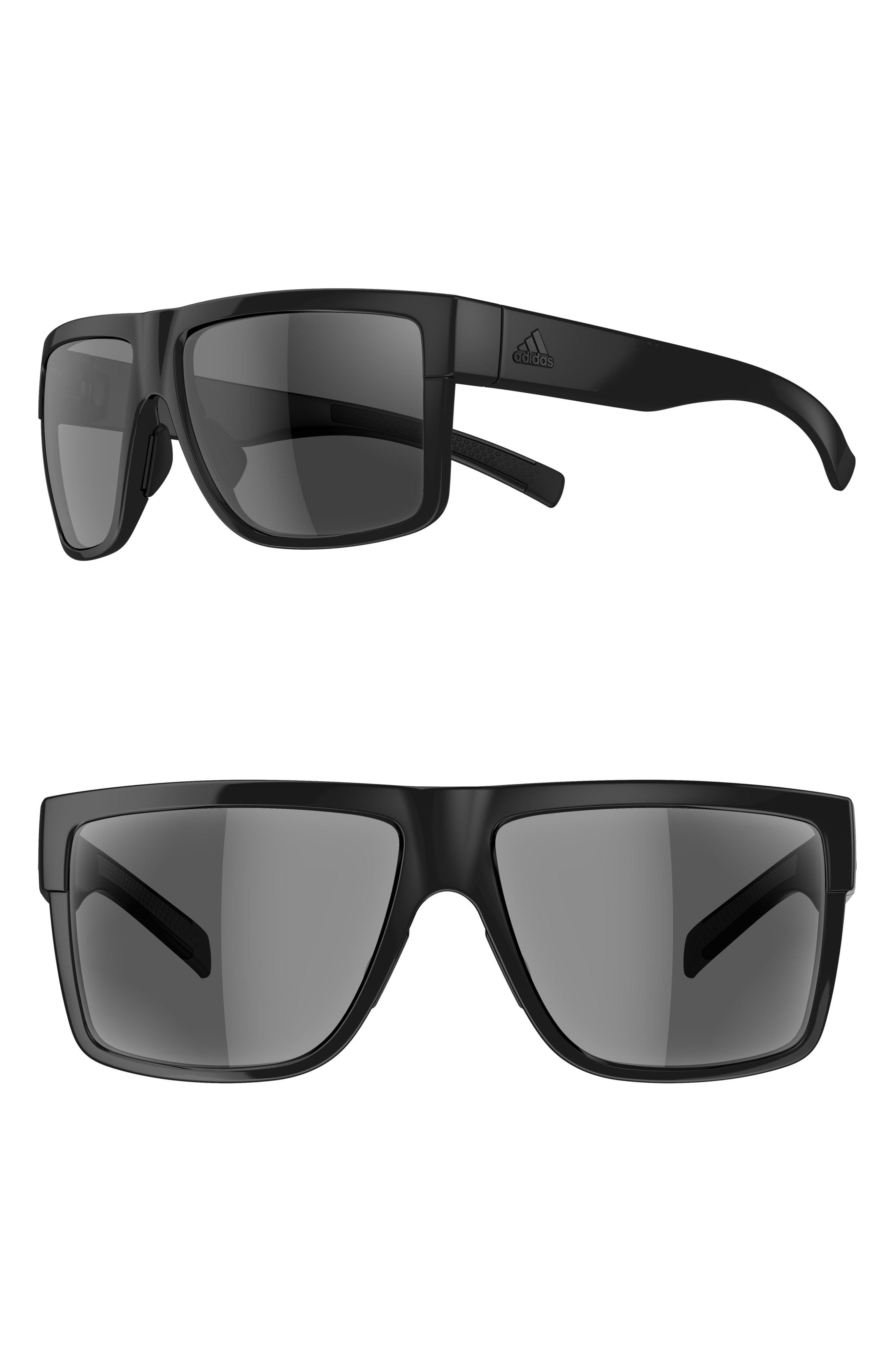 fffe3cc0231b Lyst - adidas 3matic 60mm Sport Sunglasses - Shiny Black  Grey in Black