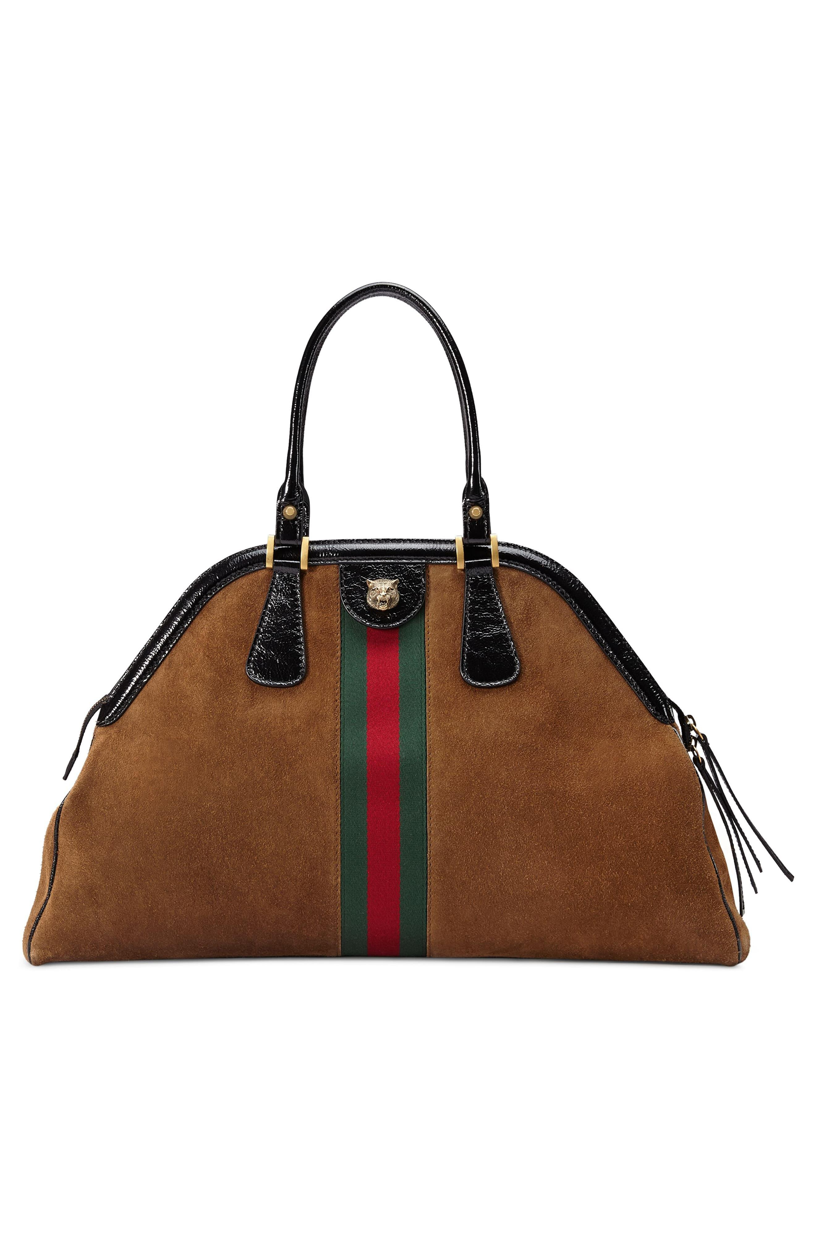 3a2d84401cd0 Gucci Large Re(belle) Suede Satchel - in Blue - Save 16% - Lyst