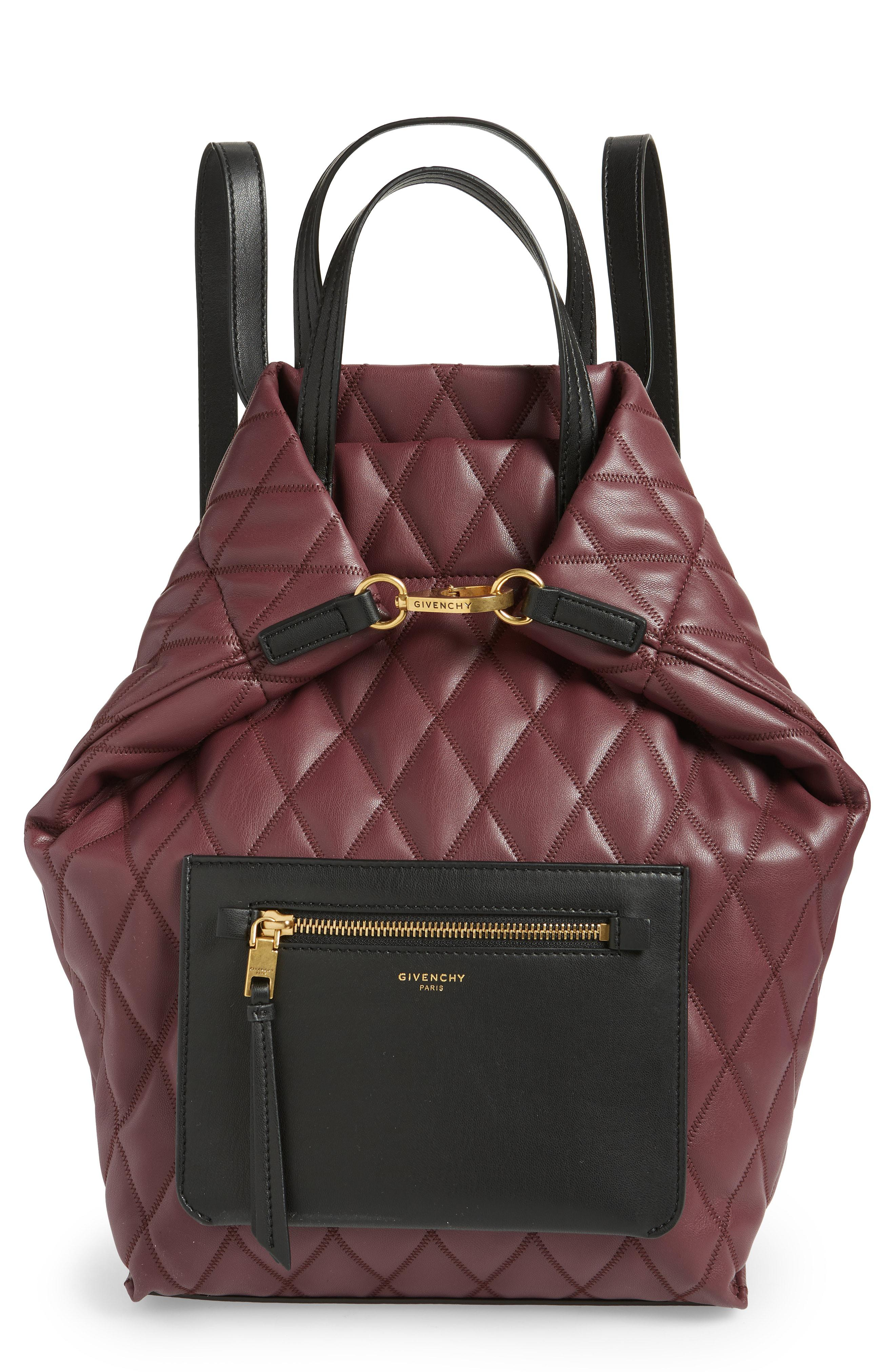 f9e09b9791e9 Lyst - Givenchy Quilted Convertible Backpack in Black - Save 18%