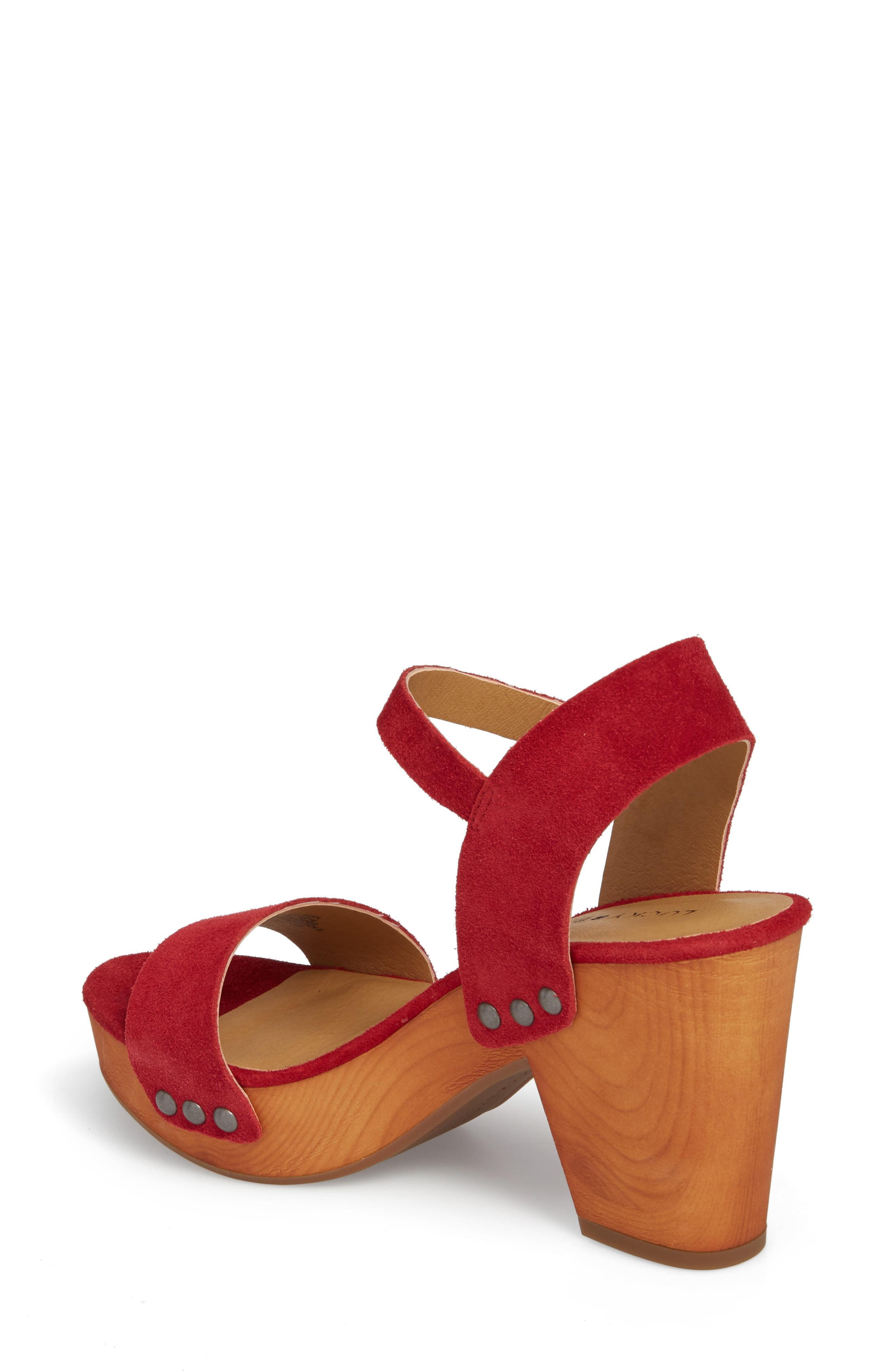 bea47d78cc0 Lucky Brand - Red Trisa Platform Sandal - Lyst. View fullscreen