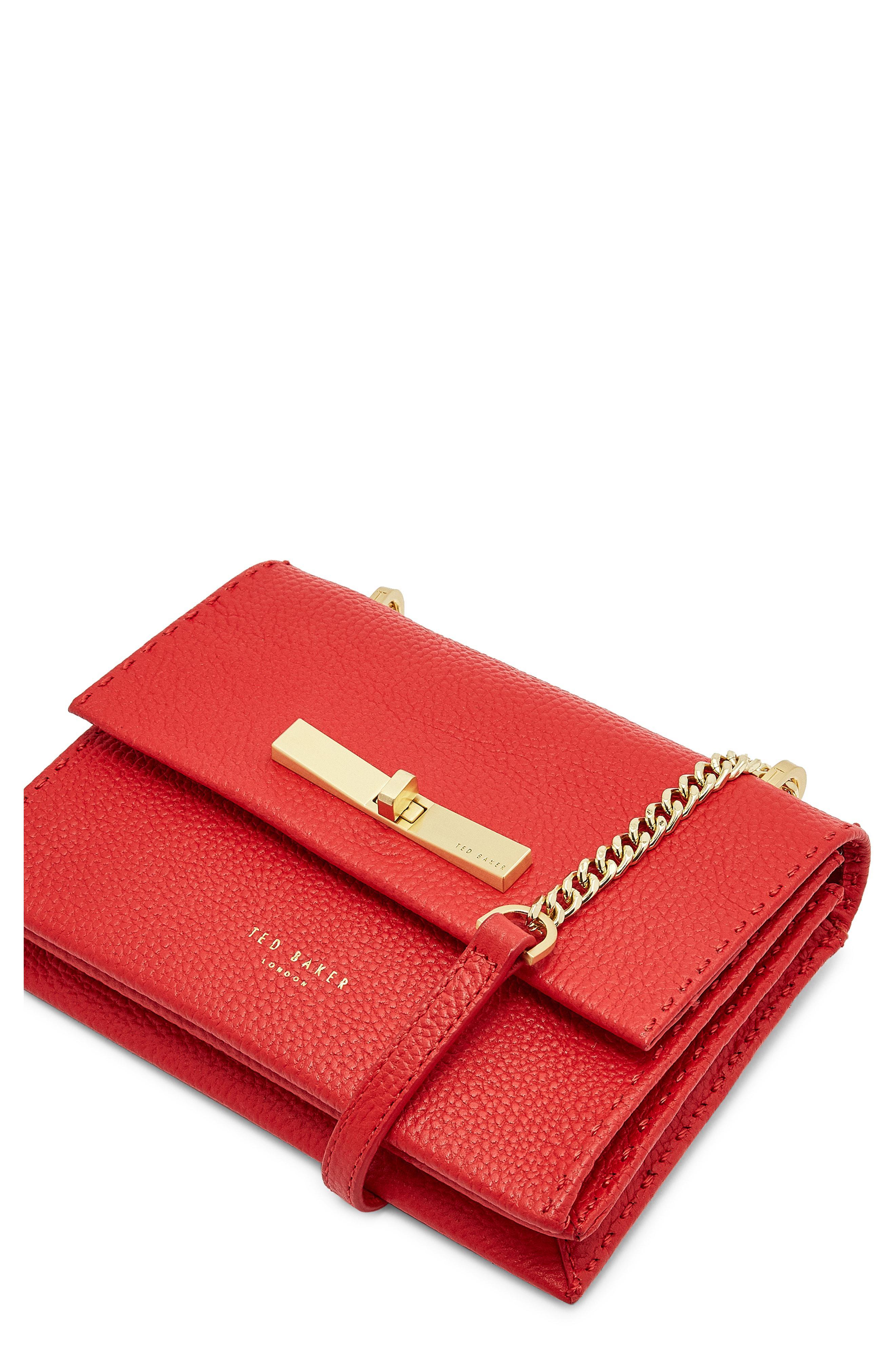 d57ce08e6834 Ted Baker - Red Mini Juliah Concertina Leather Crossbody Bag - - Lyst. View  fullscreen