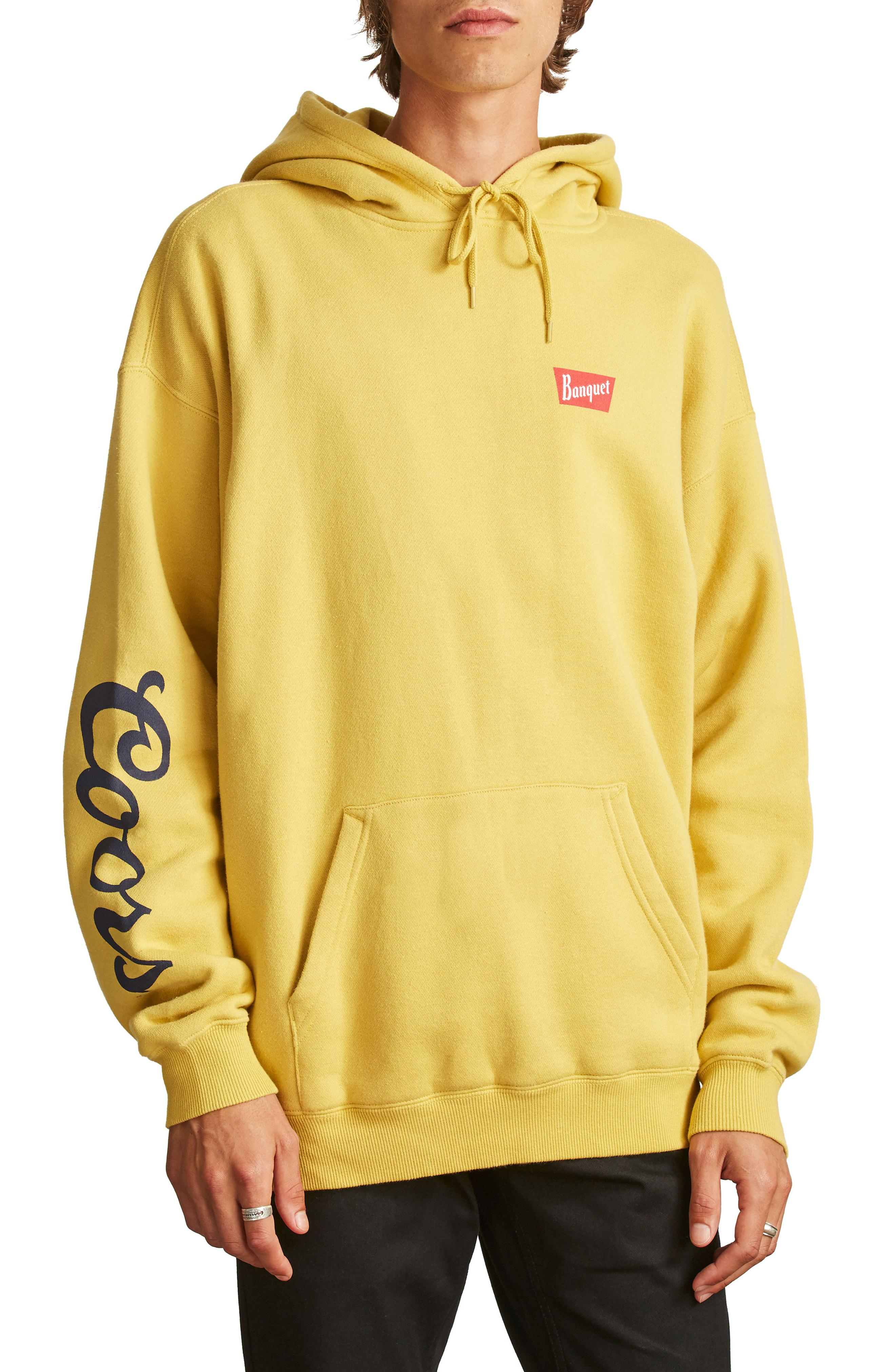 Lyst - Brixton X Coors Banquet Hoodie in Yellow for Men a74086d50a3