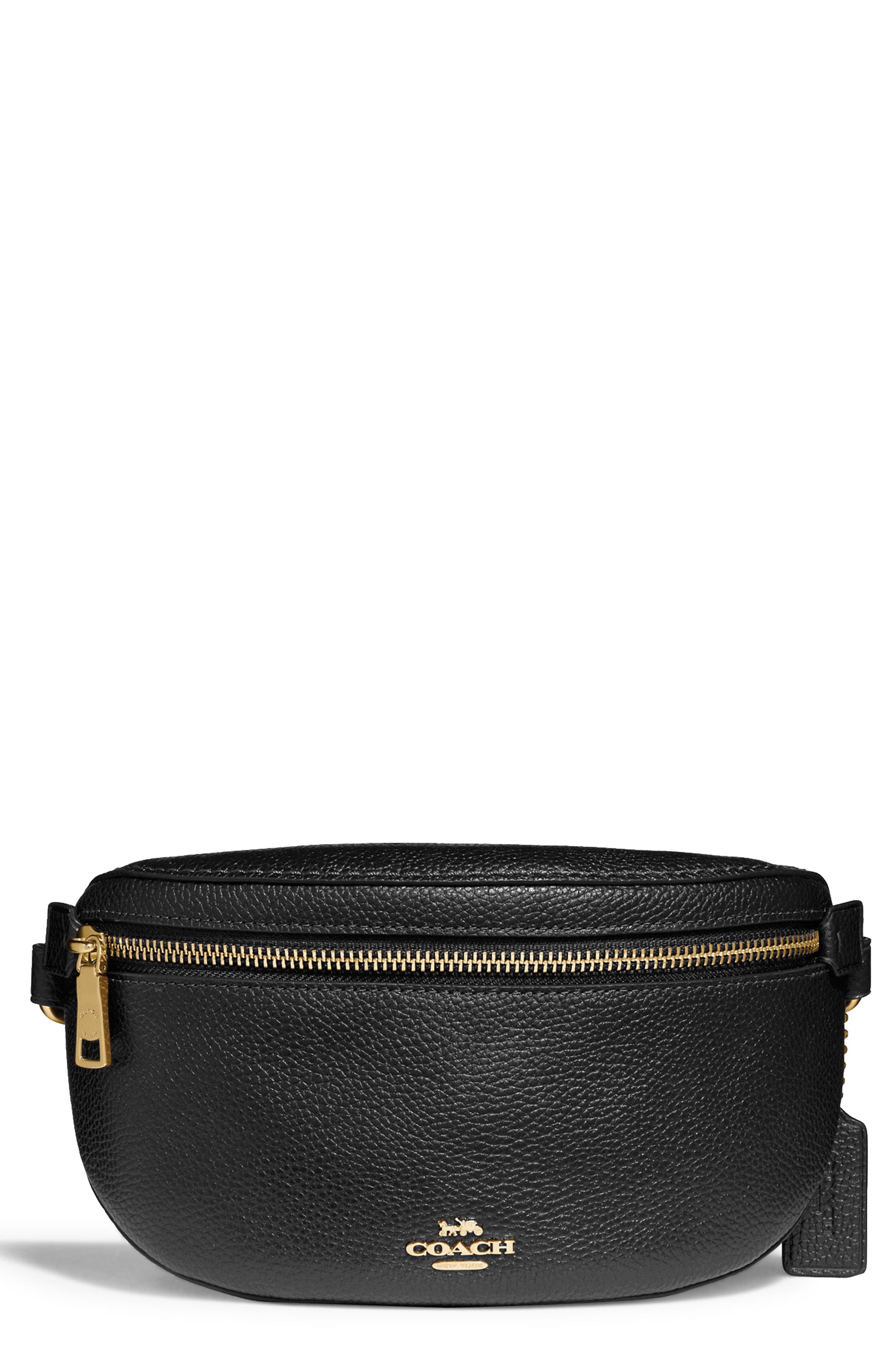 592703f24135a COACH - Black Belt Bag - Lyst. View fullscreen