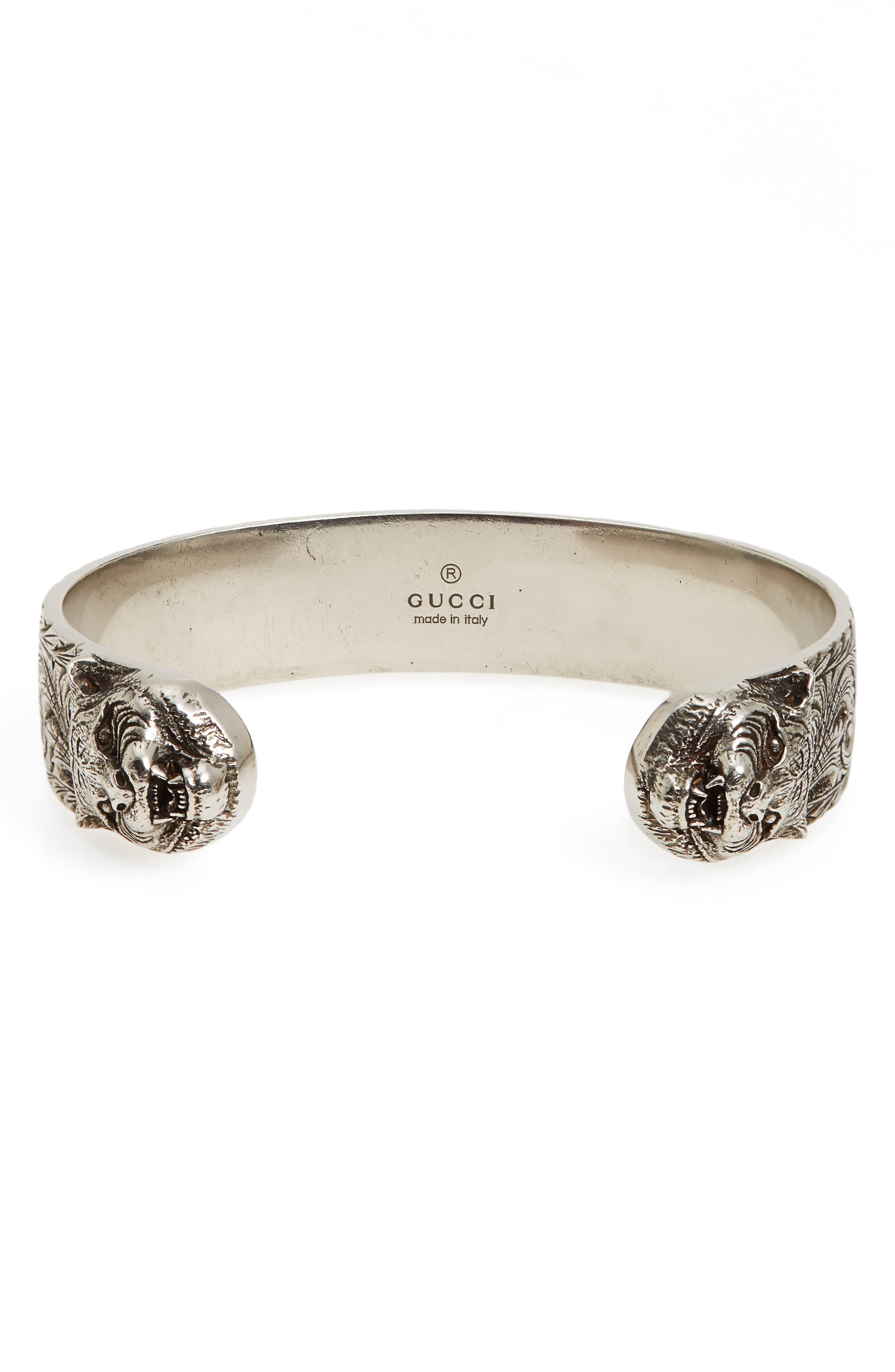 364424917 Gucci Tiger Cuff Bracelet in Metallic for Men - Lyst photo