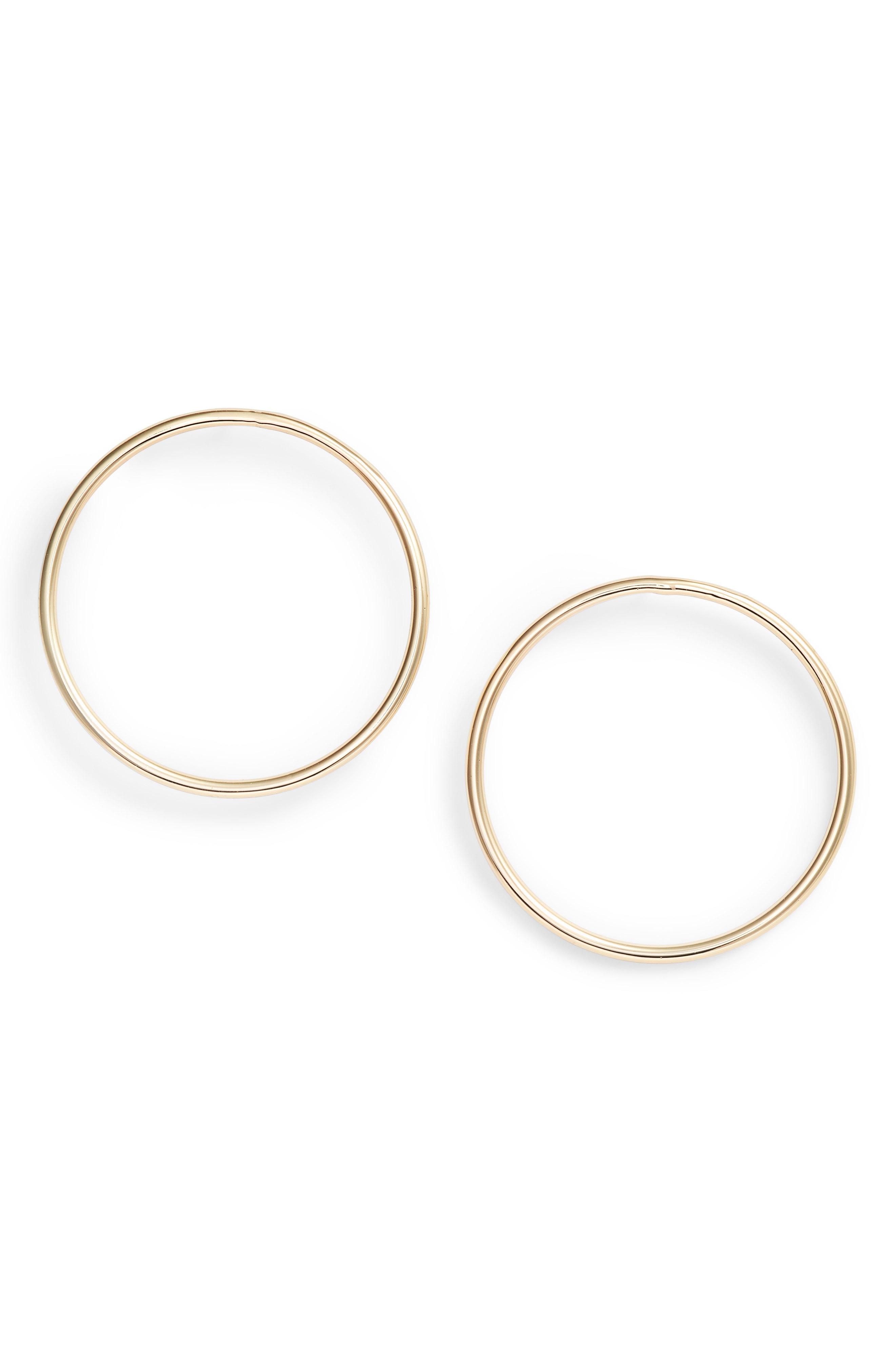 880b6d4bc Rebecca Minkoff Tubular Frontal Hoop Earrings in Metallic - Lyst