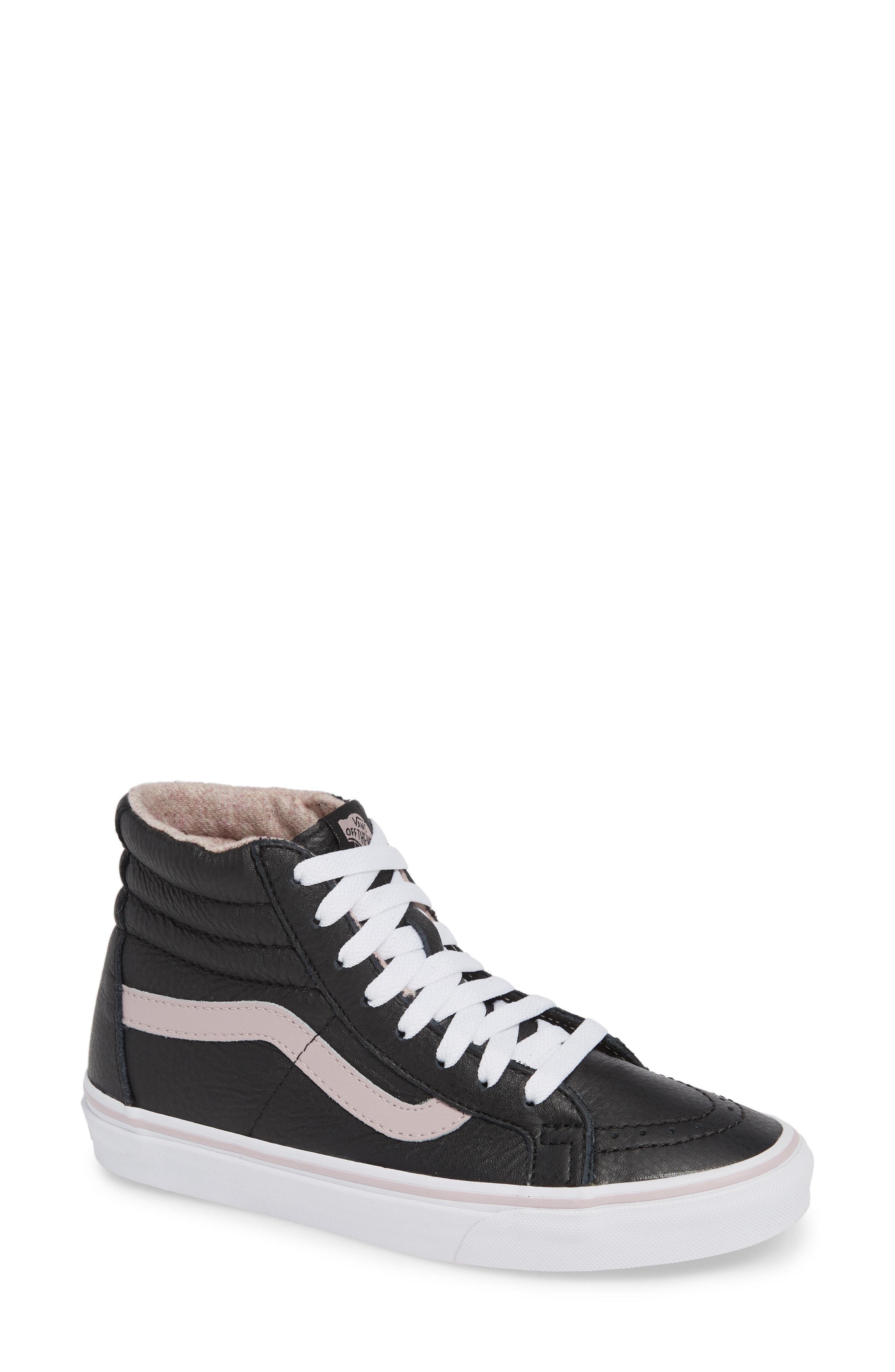 4c37b501a4178 Lyst - Vans Sk8-hi Reissue Sneaker in Black