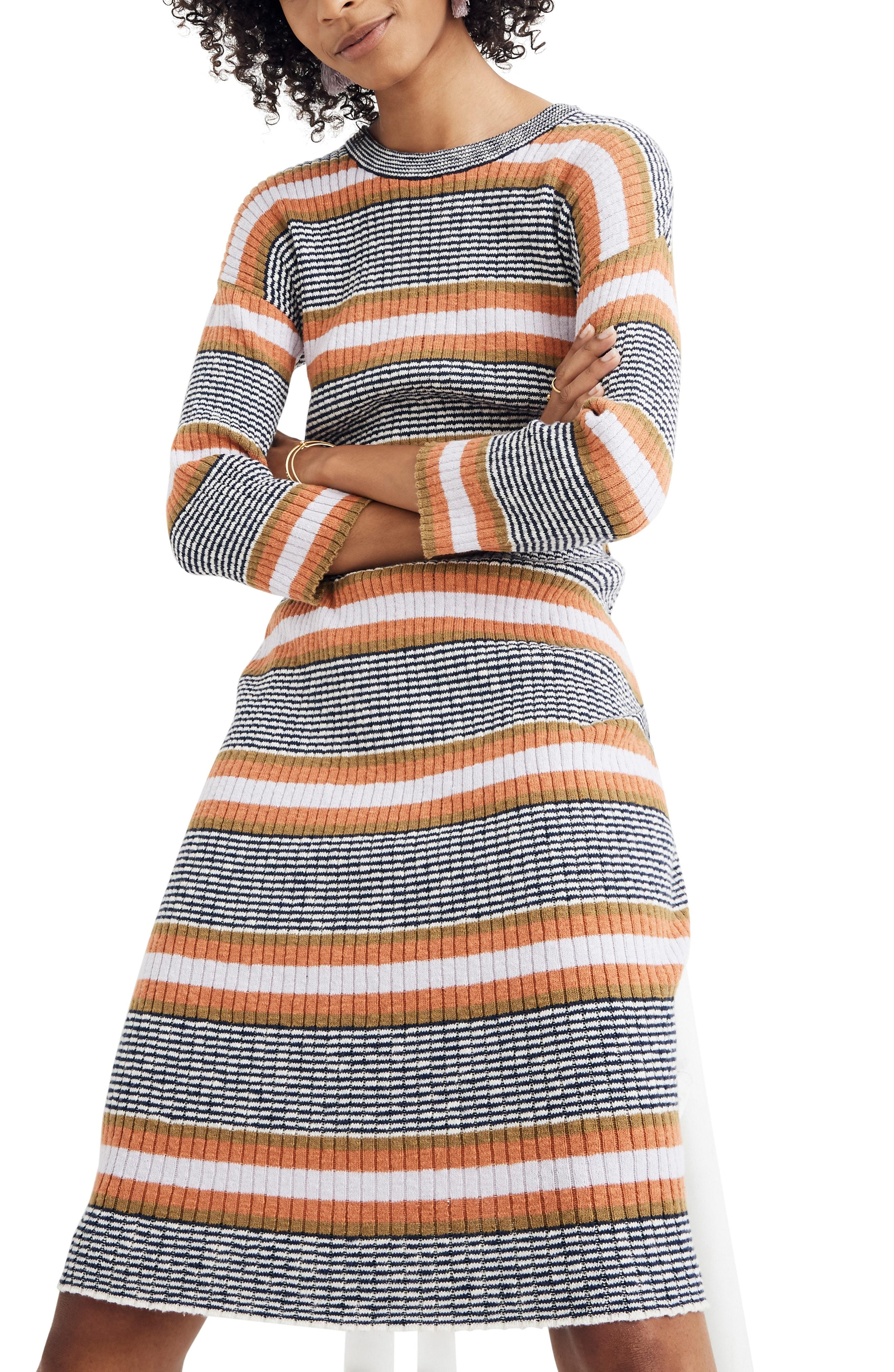 7ce05bdb09e Madewell. Women s Stripe Sweater Dress