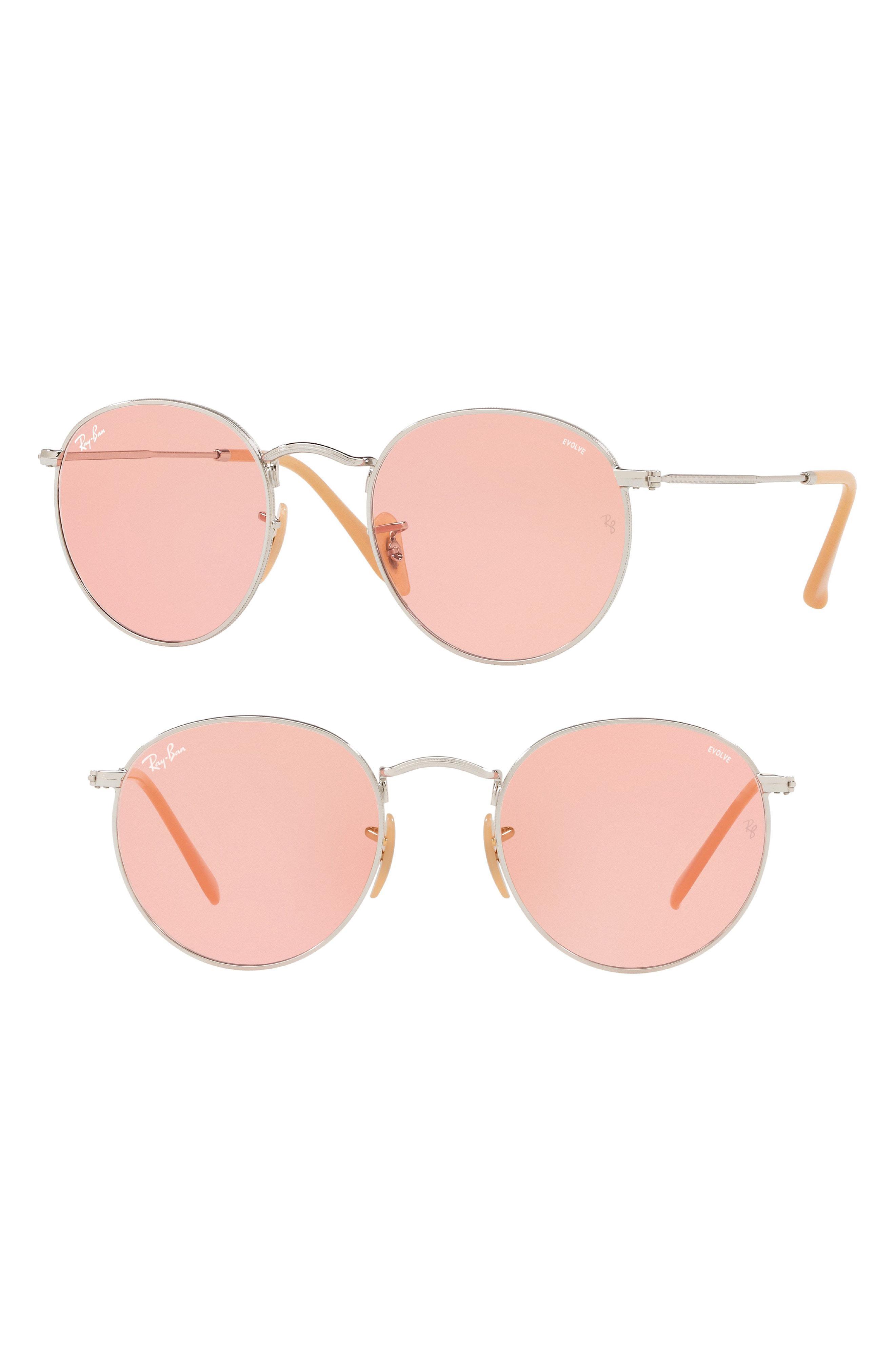 f29273fd9f Lyst - Ray-Ban 53mm Evolve Photochromic Round Sunglasses -
