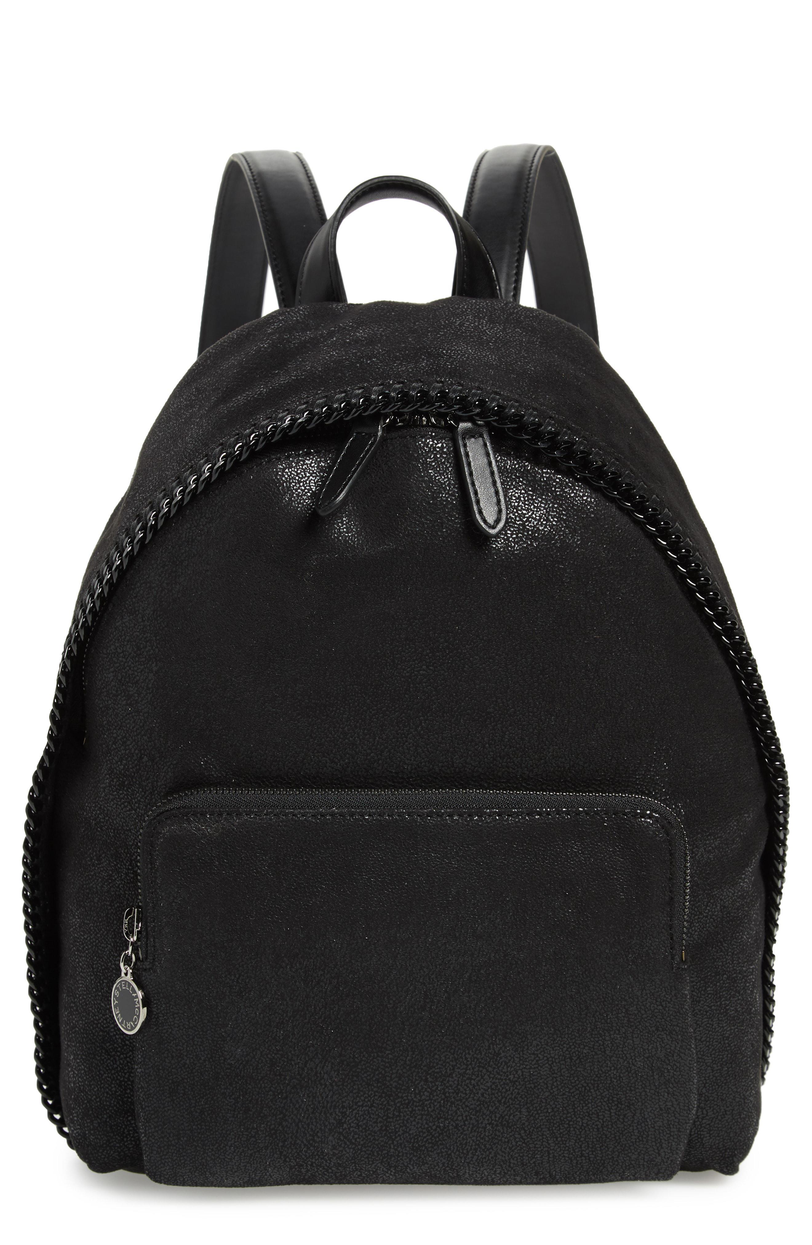 288fa0b99bf05b Lyst - Stella McCartney Small Falabella Faux Leather Backpack - in Black