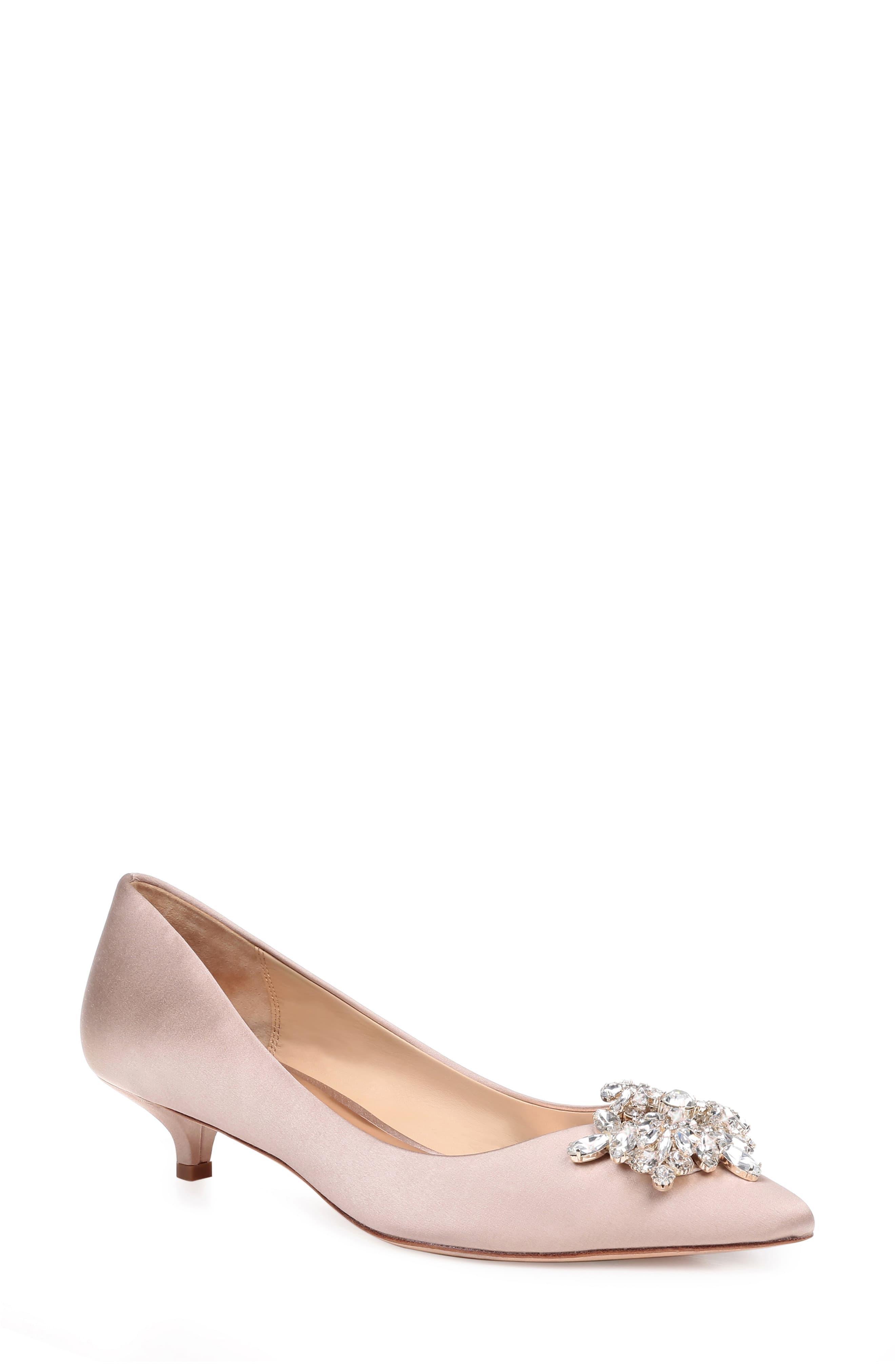 ea46df7ed54 Women's Pink Badgley Mischka Vail Embellished Kitten Heel Pump
