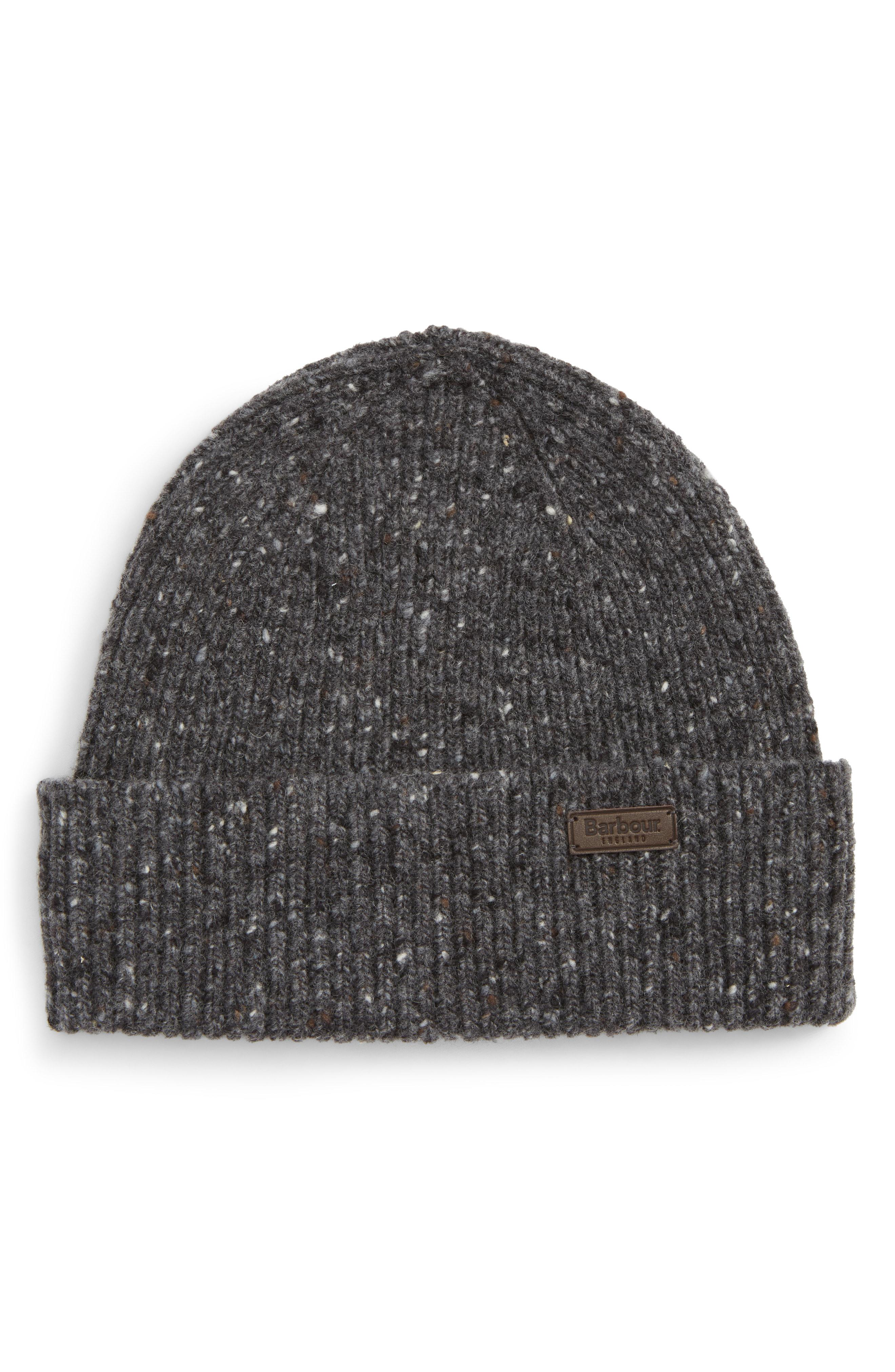 cd5ff91d2ac Barbour - Gray Lowerfell Donegal Beanie Hat for Men - Lyst. View fullscreen