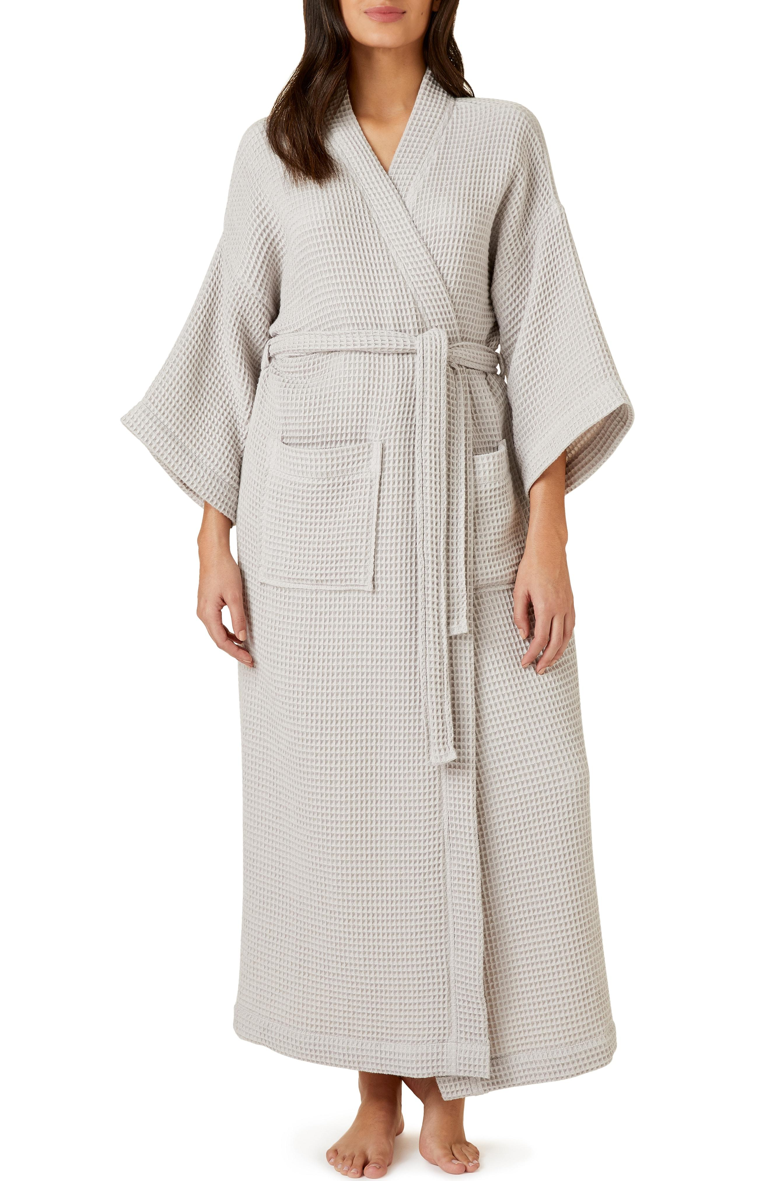 804b2db038 Lyst - The White Company Lightweight Waffle Robe in Gray