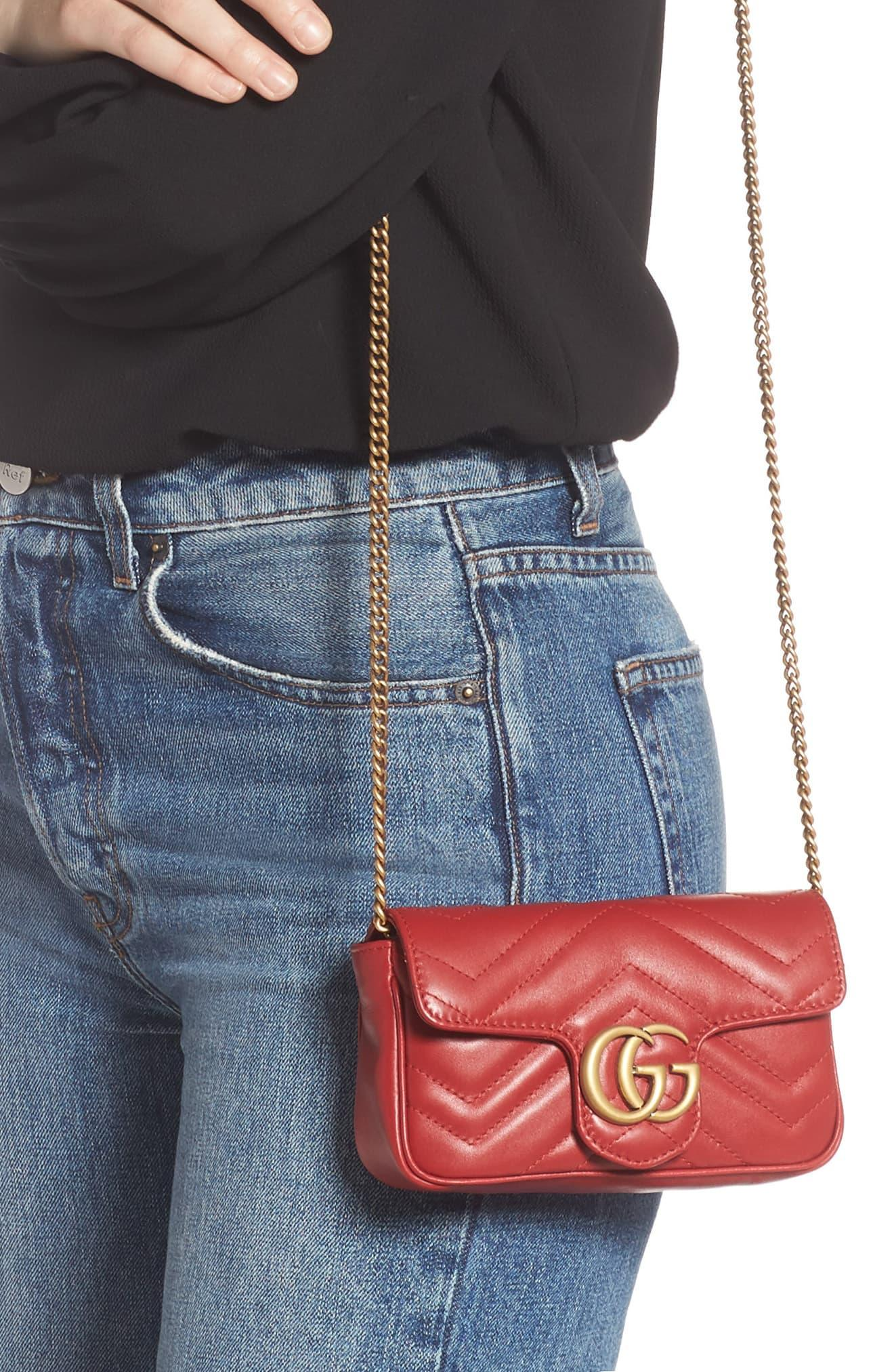 29e951be0 ... Gucci Red Mini Borsa Gg Marmont In Pelle Matelassé · Visit Nordstrom.  Tap to visit site